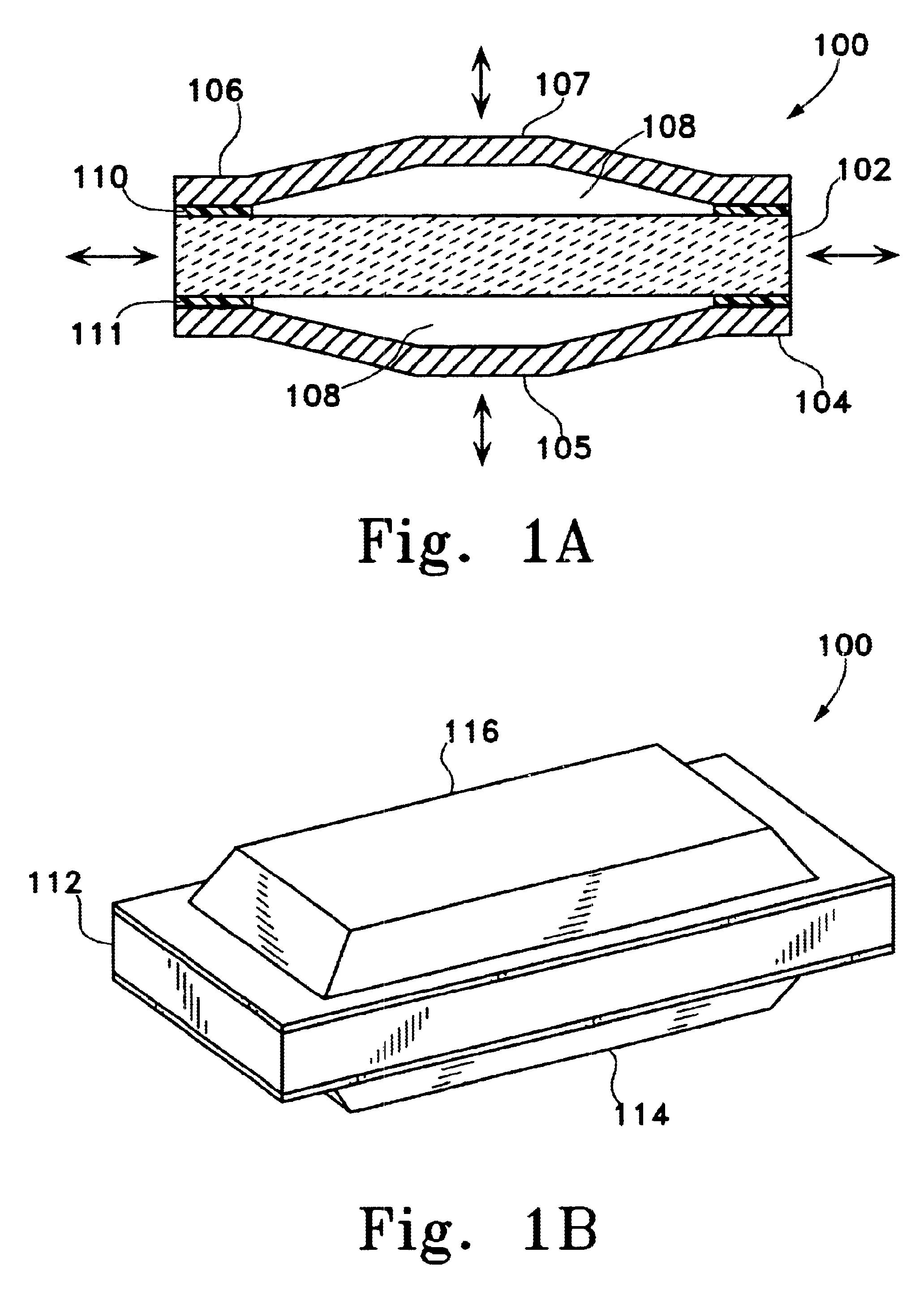 Patent Us6629922 Flextensional Output Actuators For