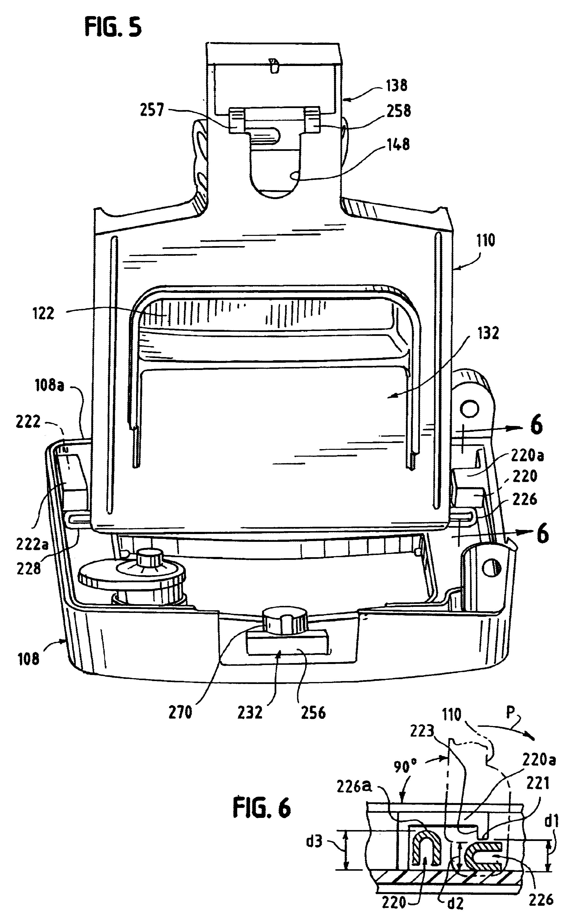 Patent US6632108 - Terminal block with self-locking