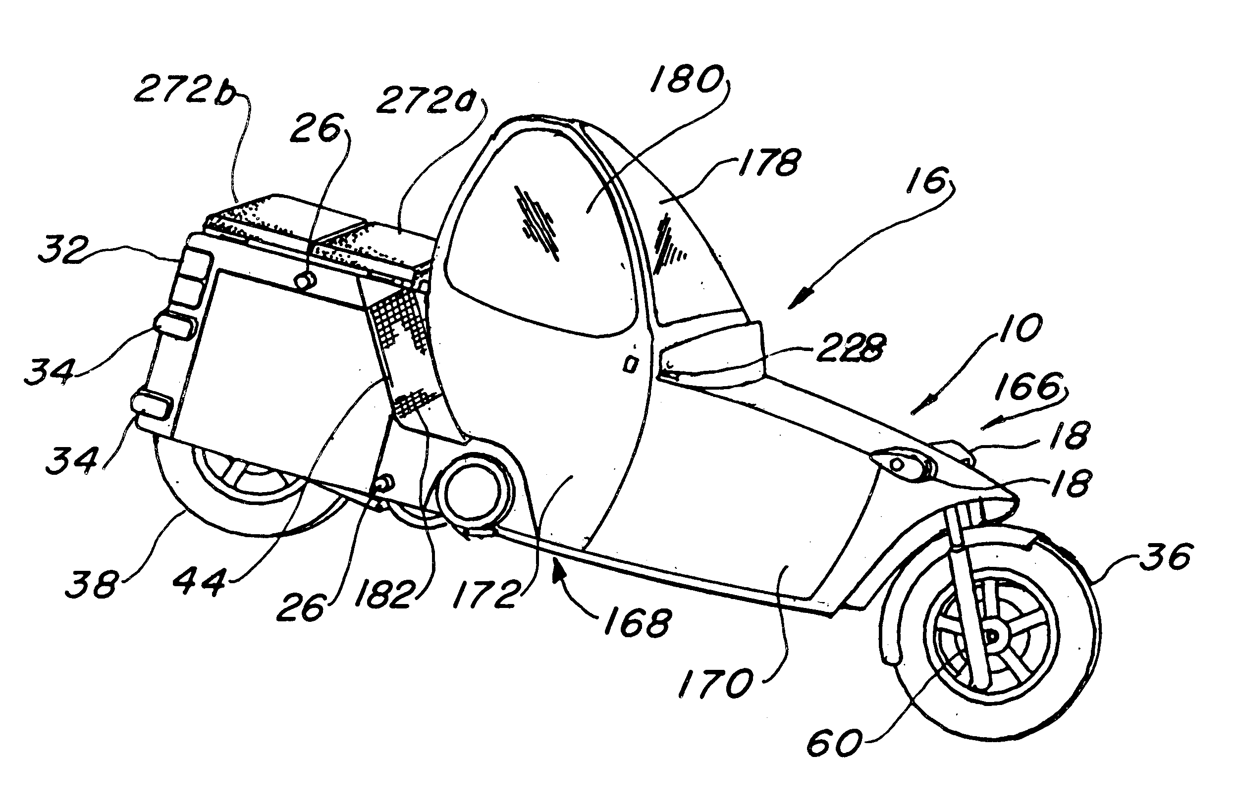 Patent Us6637763 Enclosed Motorcycle Google Patents Toyota Shows The Iroad A Fullyenclosed Tilting Electric Three Drawing