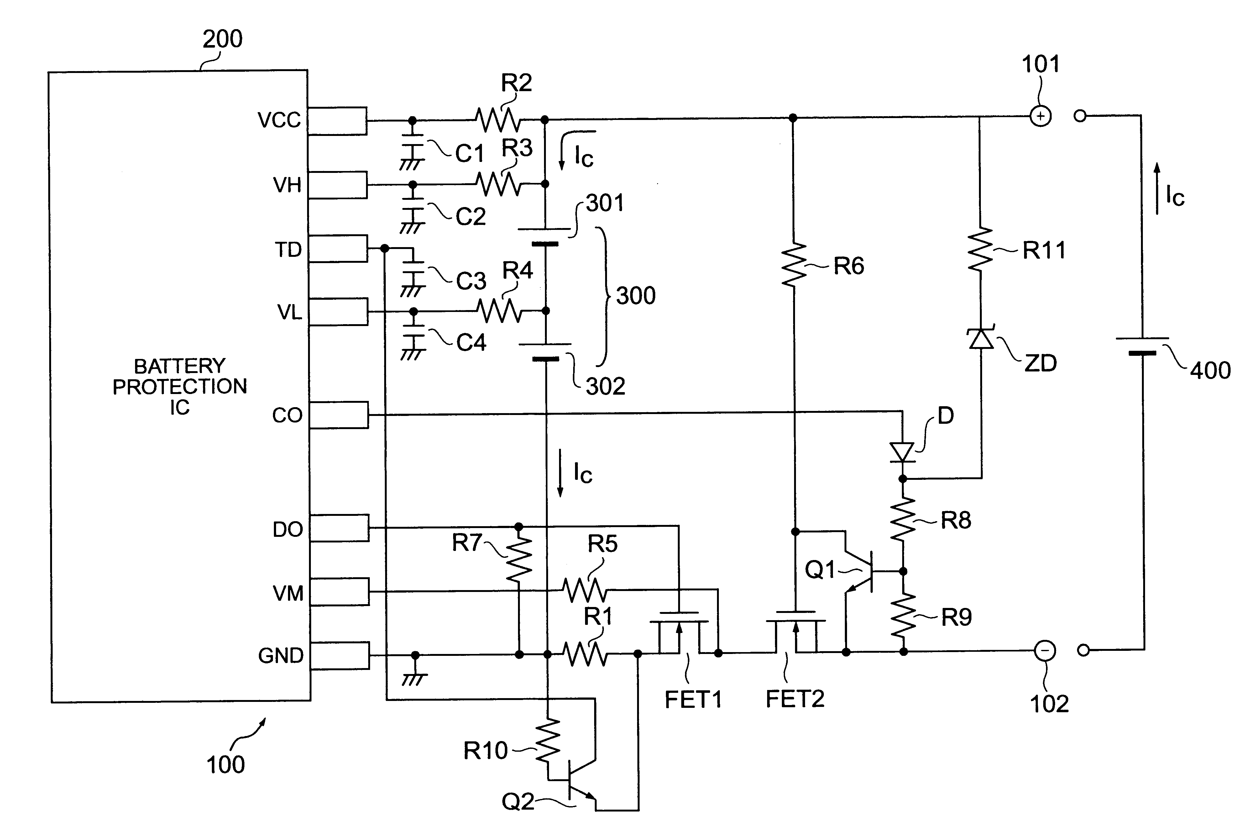 Patent Us6642694 Overcharge Protection Circuit Capable Of First I Connected 1 Supercap And The Led Resistor Into Drawing