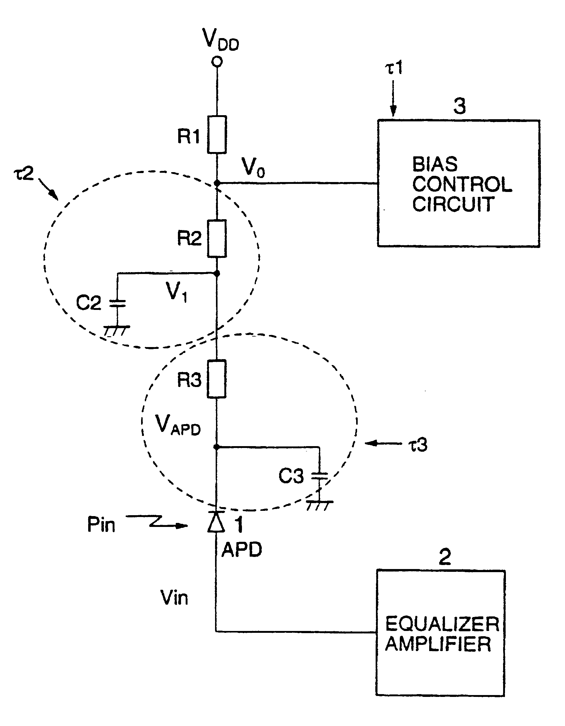 Patent Us6643472 Apd Bias Circuit Google Patents Currentlimiting Supply With Reference Amplifier Diagram Drawing