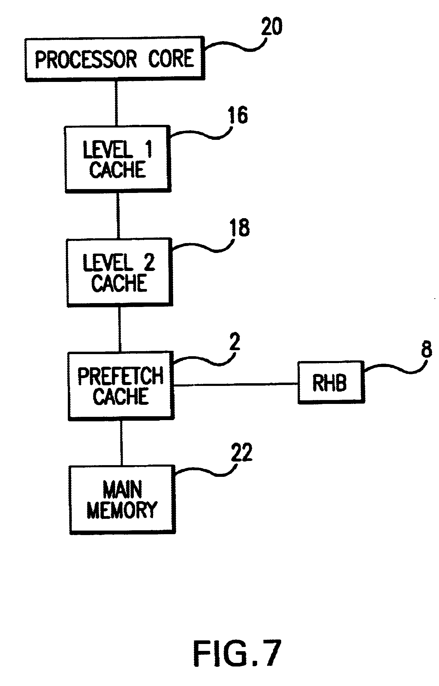 Patent US6643743 - Stream-down prefetching cache - Google Patents