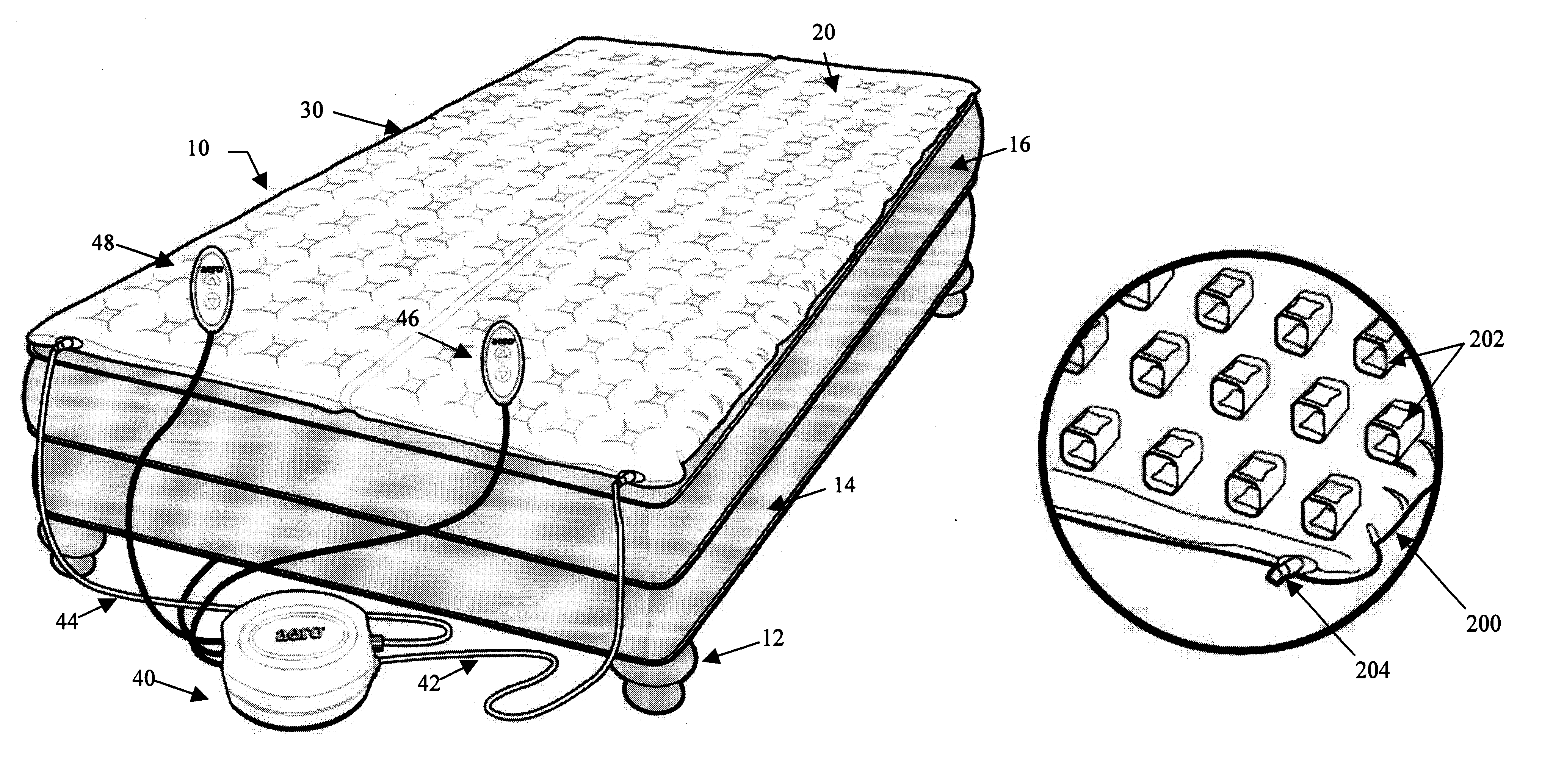 Patent Us6643875 Inflatable Mattress Topper Google Patents