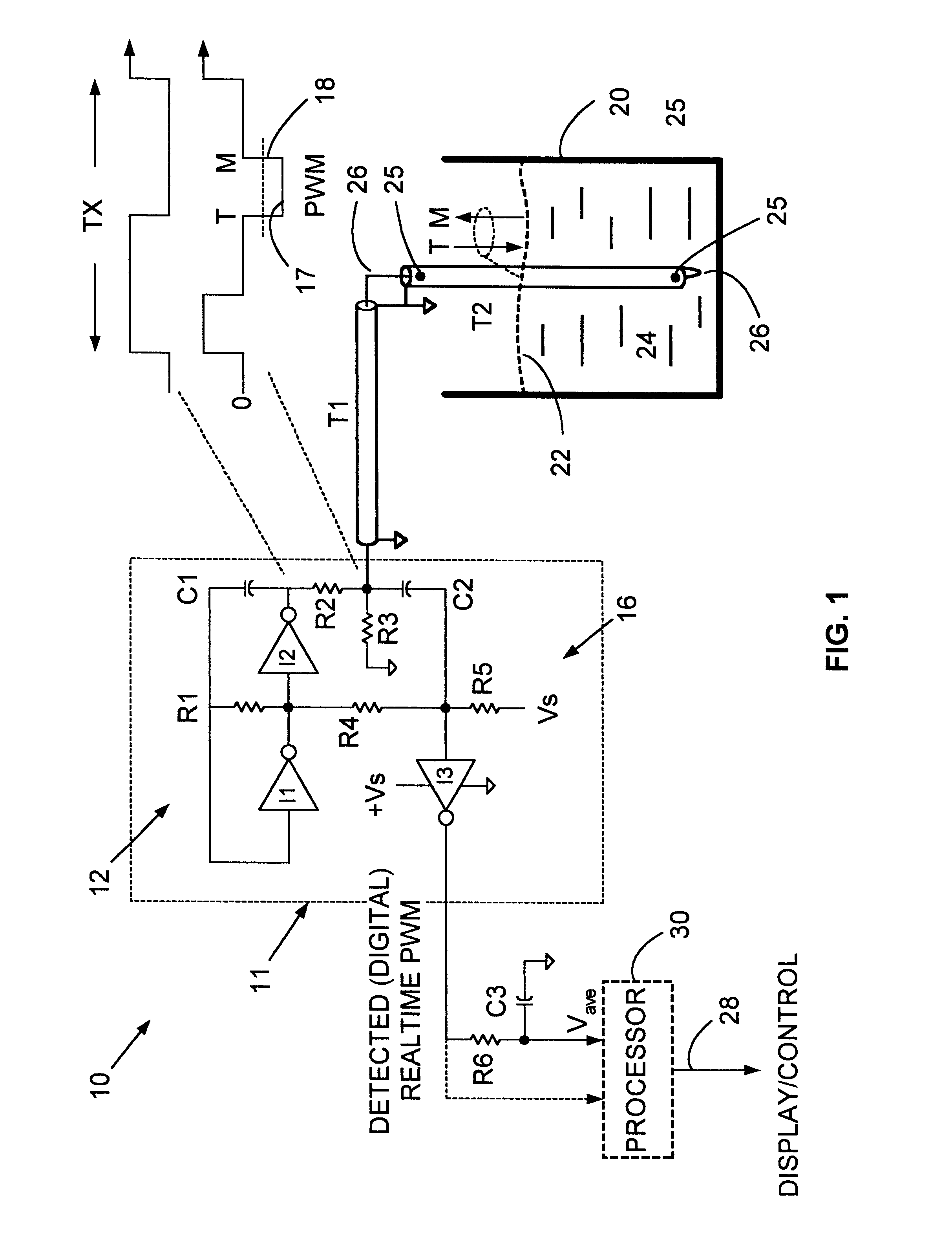 patent us6644114 - direct pwm reflectometer