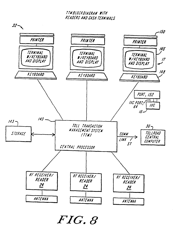 Us6653946 Electronic Vehicle Toll Collection System Radar Transponder Circuit Diagram Tradeoficcom Patent Drawing