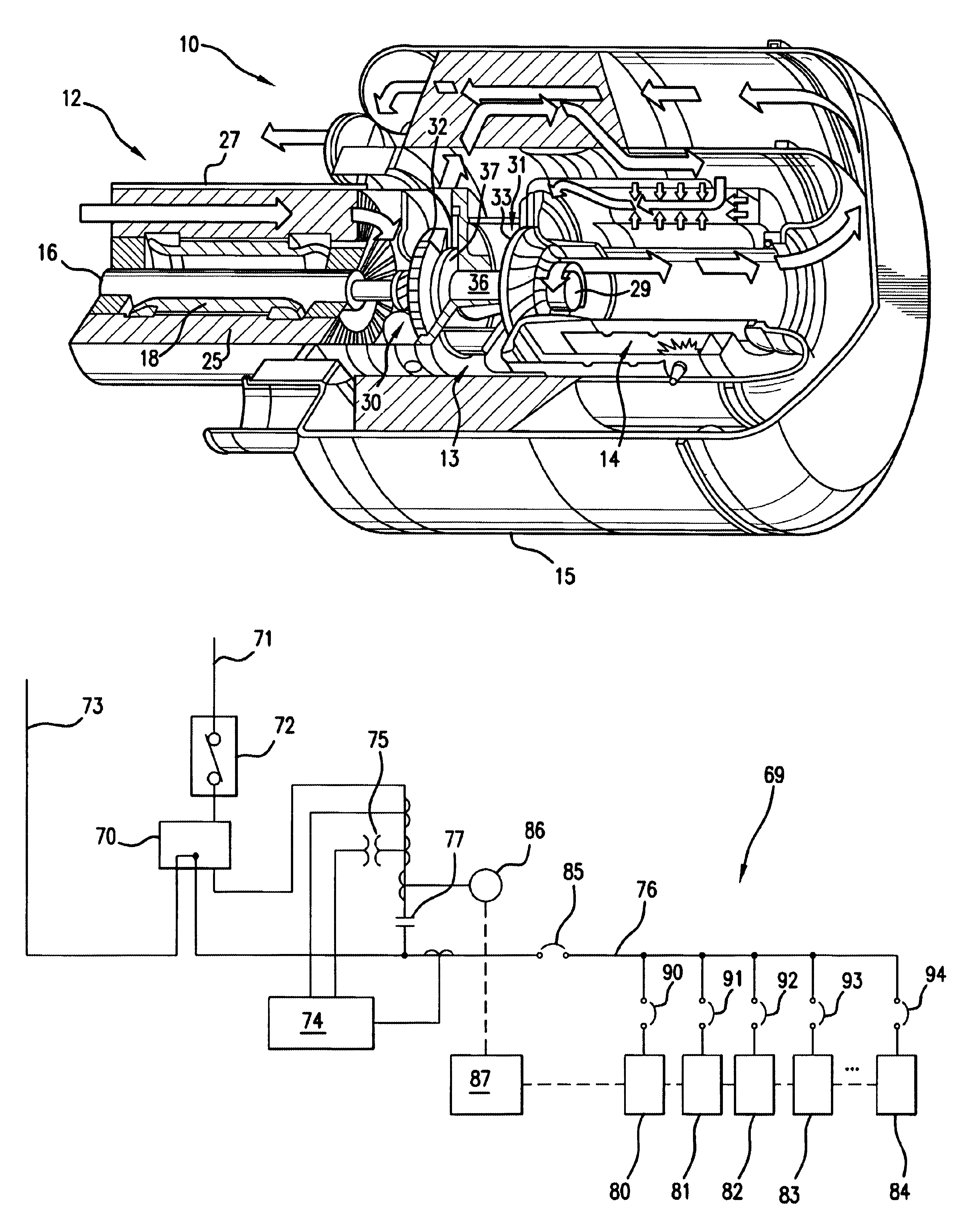 Patent Us6664653 Command And Control System For Controlling 1965 Rolls Royce Wiring Diagrams Diagram Schematic Drawing