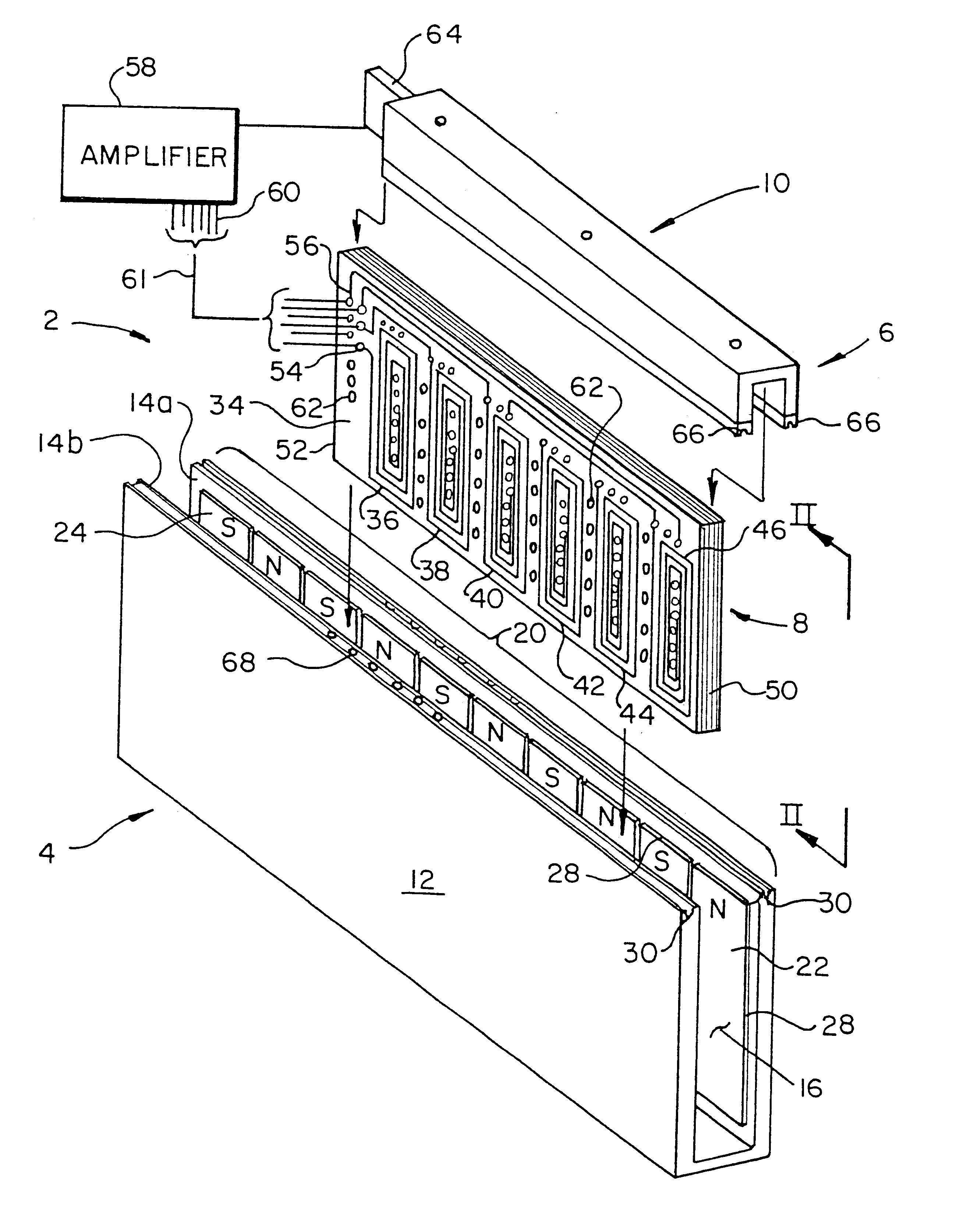 patent us6664664 - printed circuit linear motor