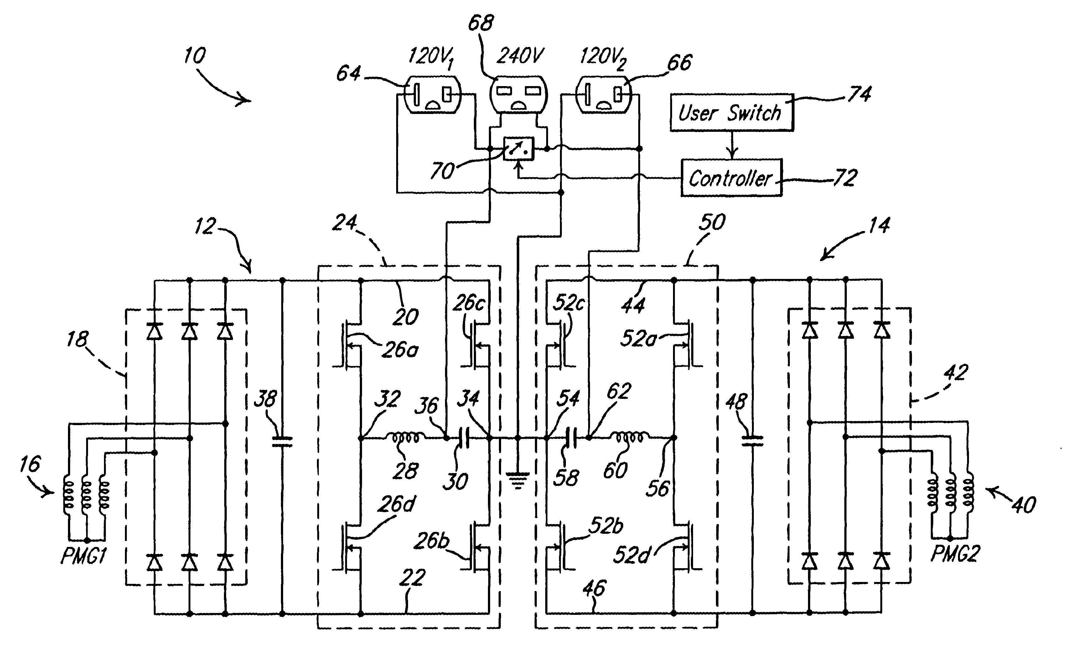 Patent Us6665158 Alternator Inverter With Dual H Bridge