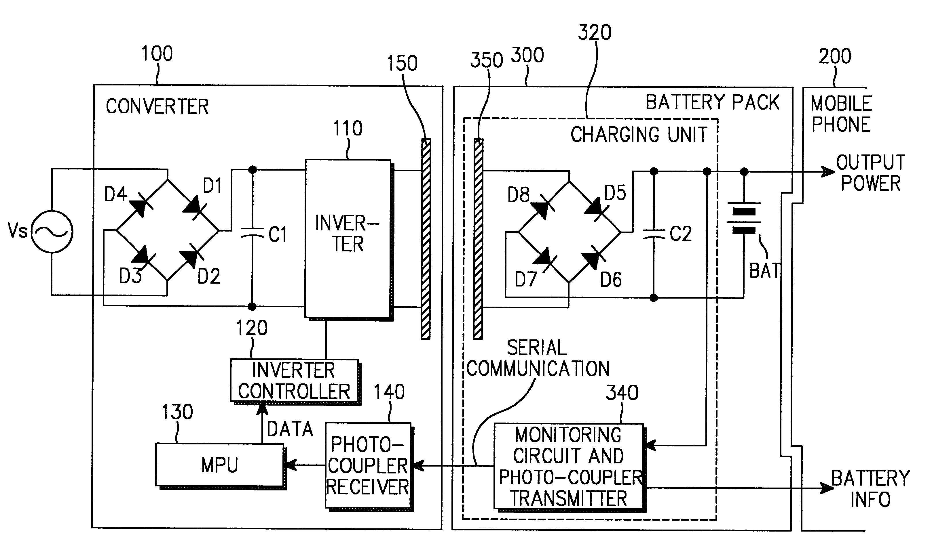 Patent Us6683438 Contactless Battery Charger Google Patents 2011 Wiring Diagram Drawing