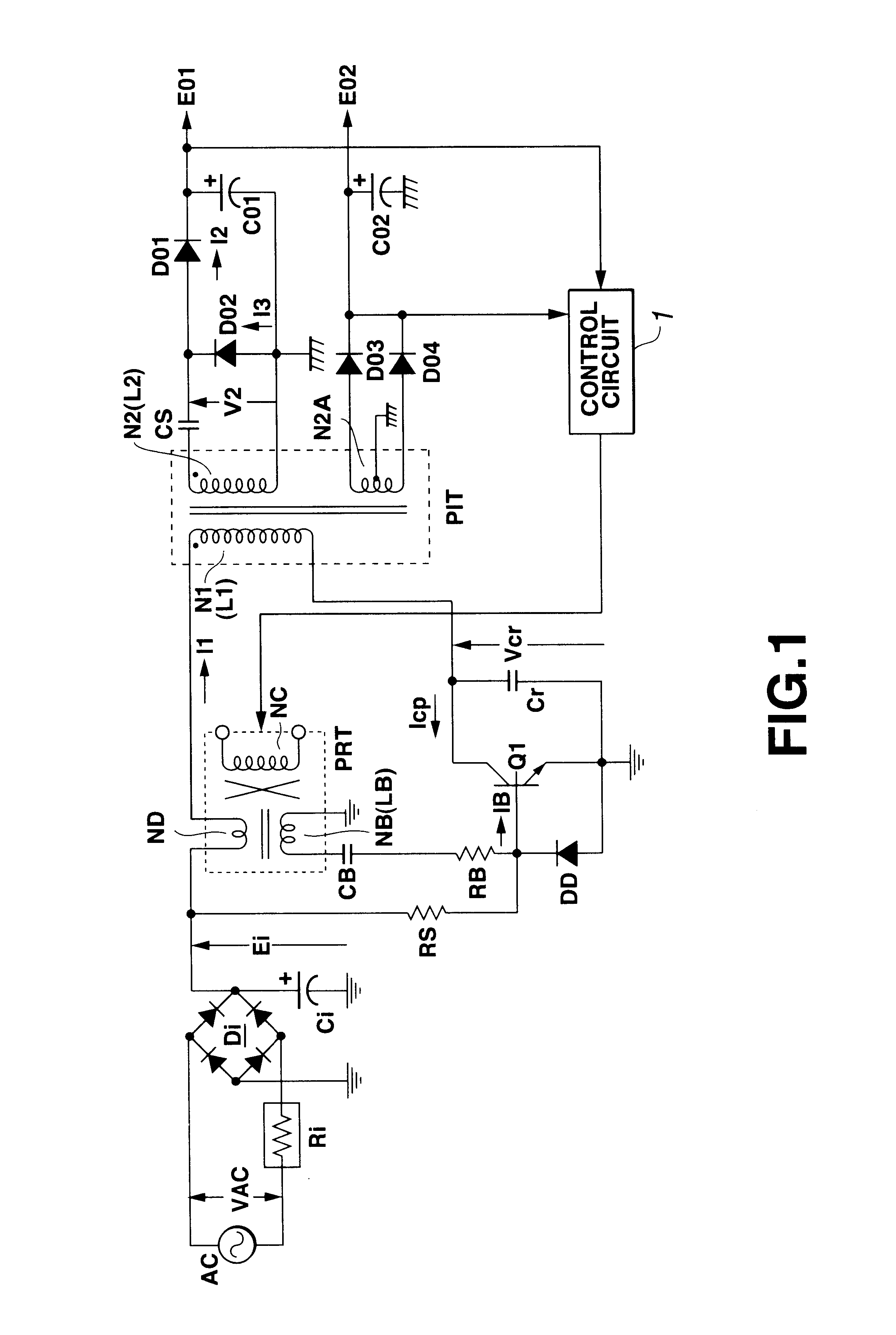 Patent Us6687137 Resonant Switching Power Supply Circuit With Example Smoothing Capacitor Drawing