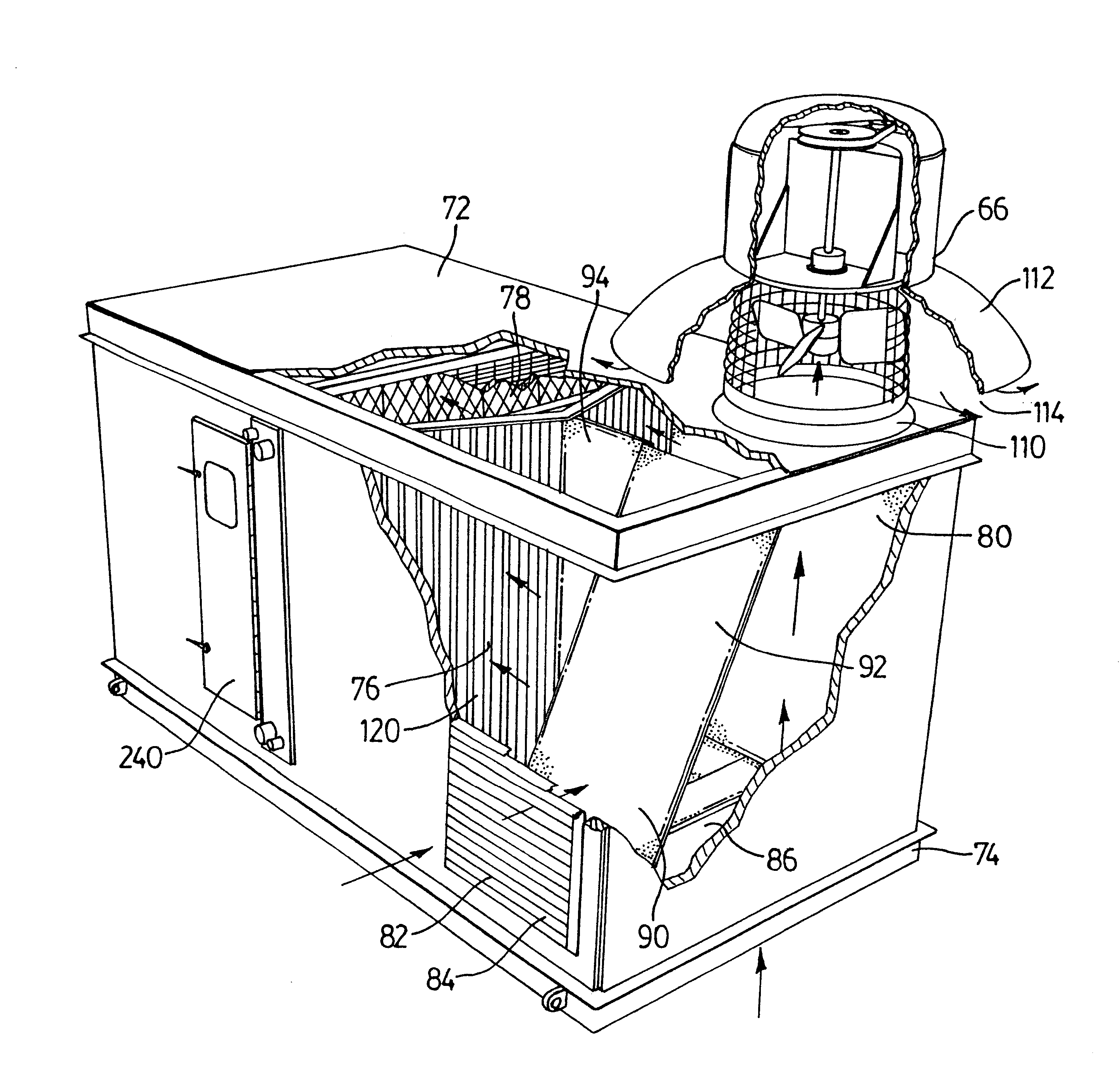 Patent US6688966 - Air handling unit with supply and exhaust