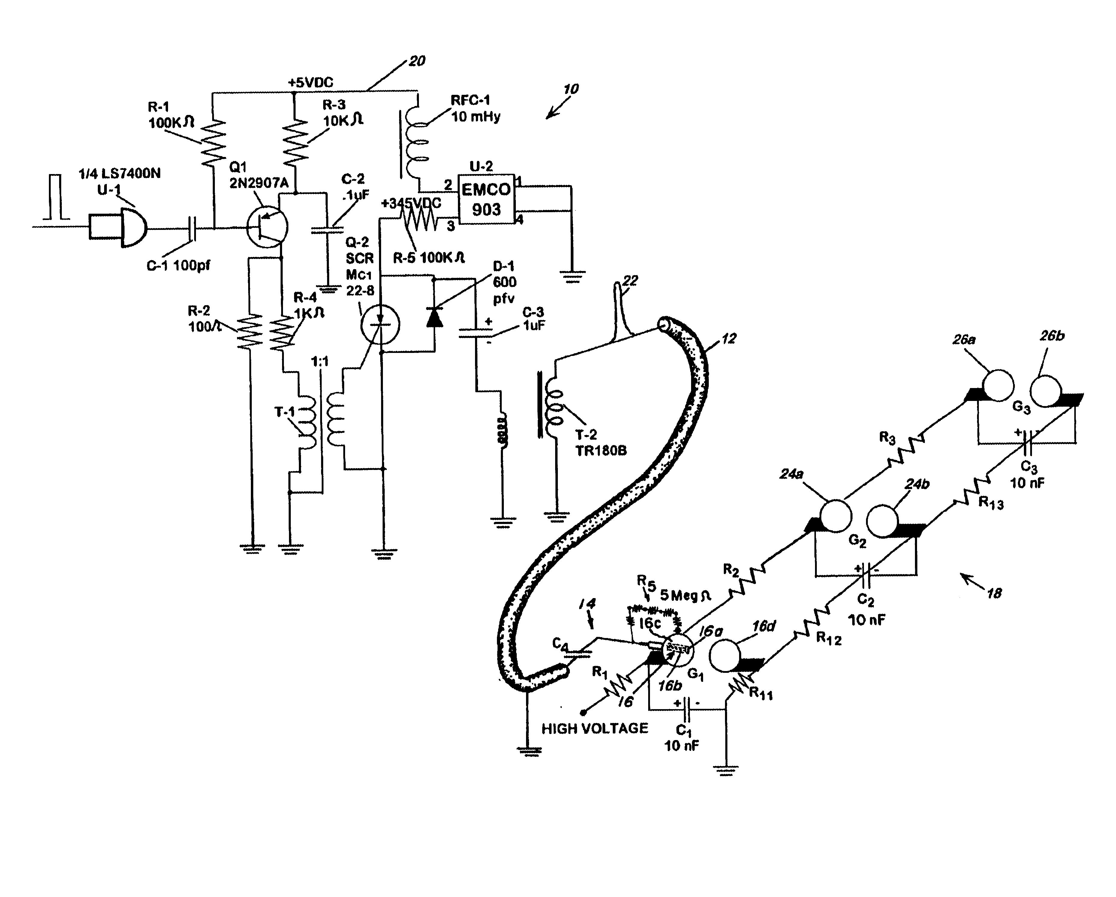 brevet us6690566 trigger circuit for marx generators brevets DC 5V USB Adapter patent drawing