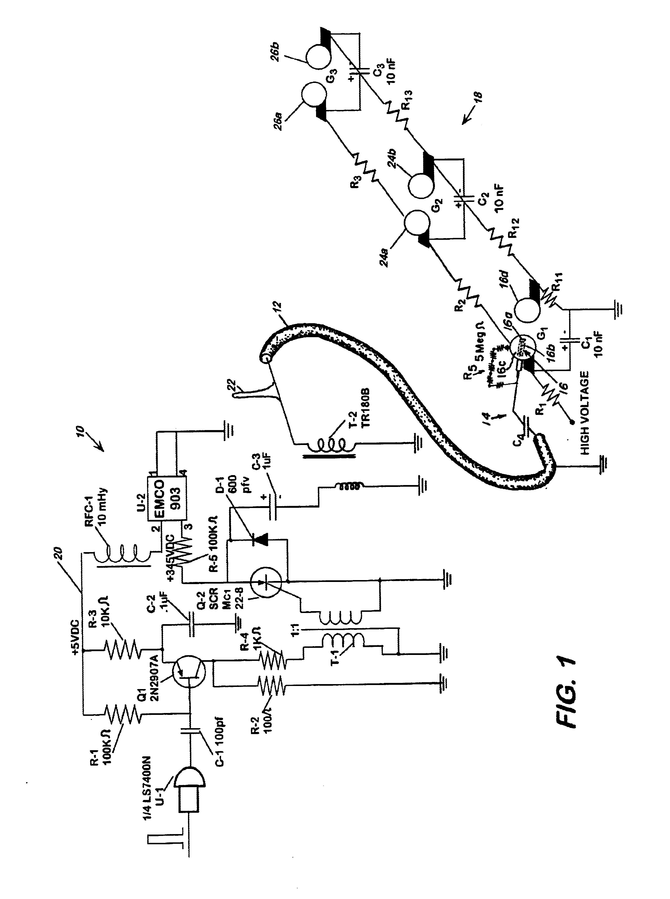 brevet us6690566 trigger circuit for marx generators brevets DC 5V Adapter patent drawing