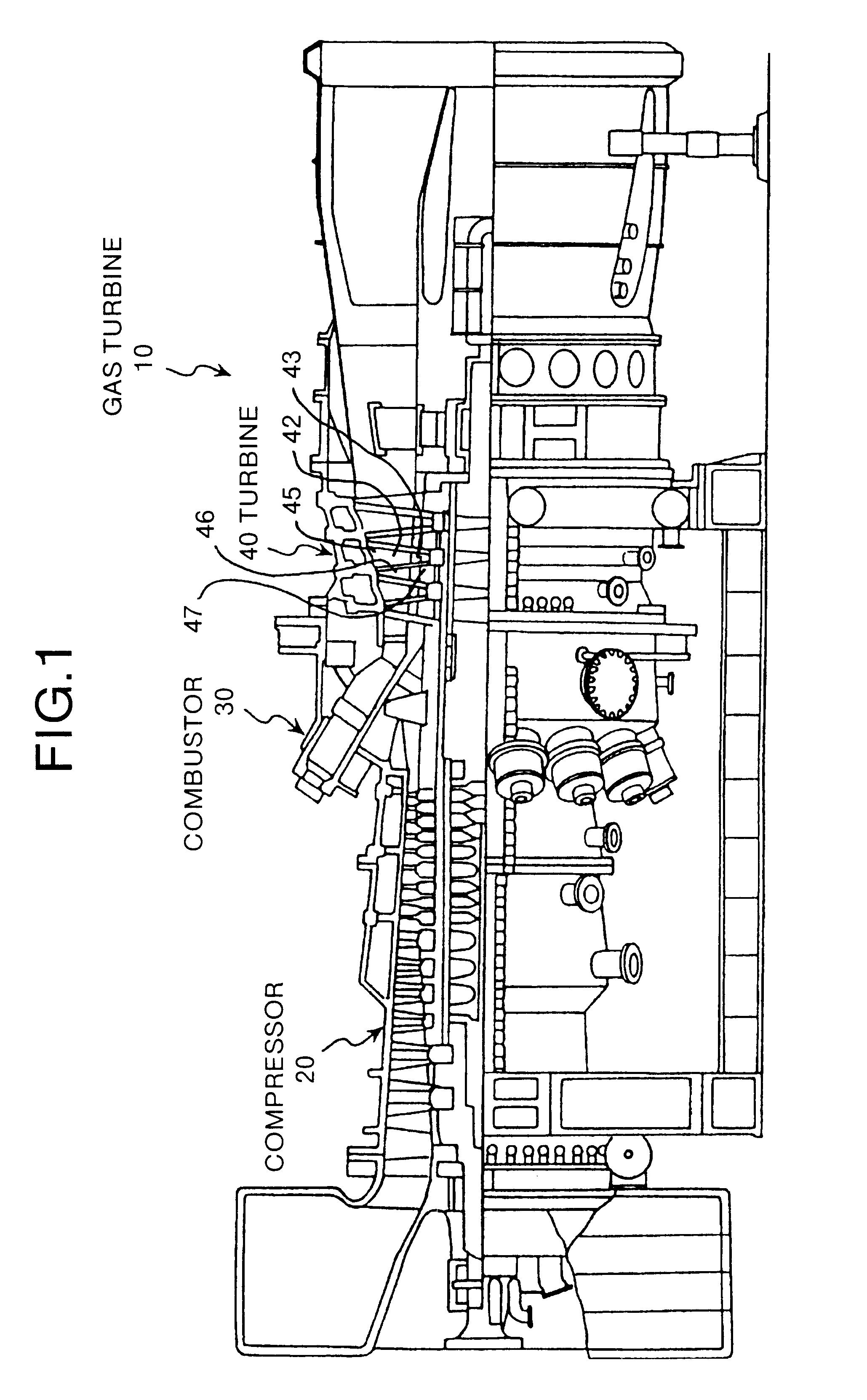 Patent US Stationary blade shroud of a gas turbine