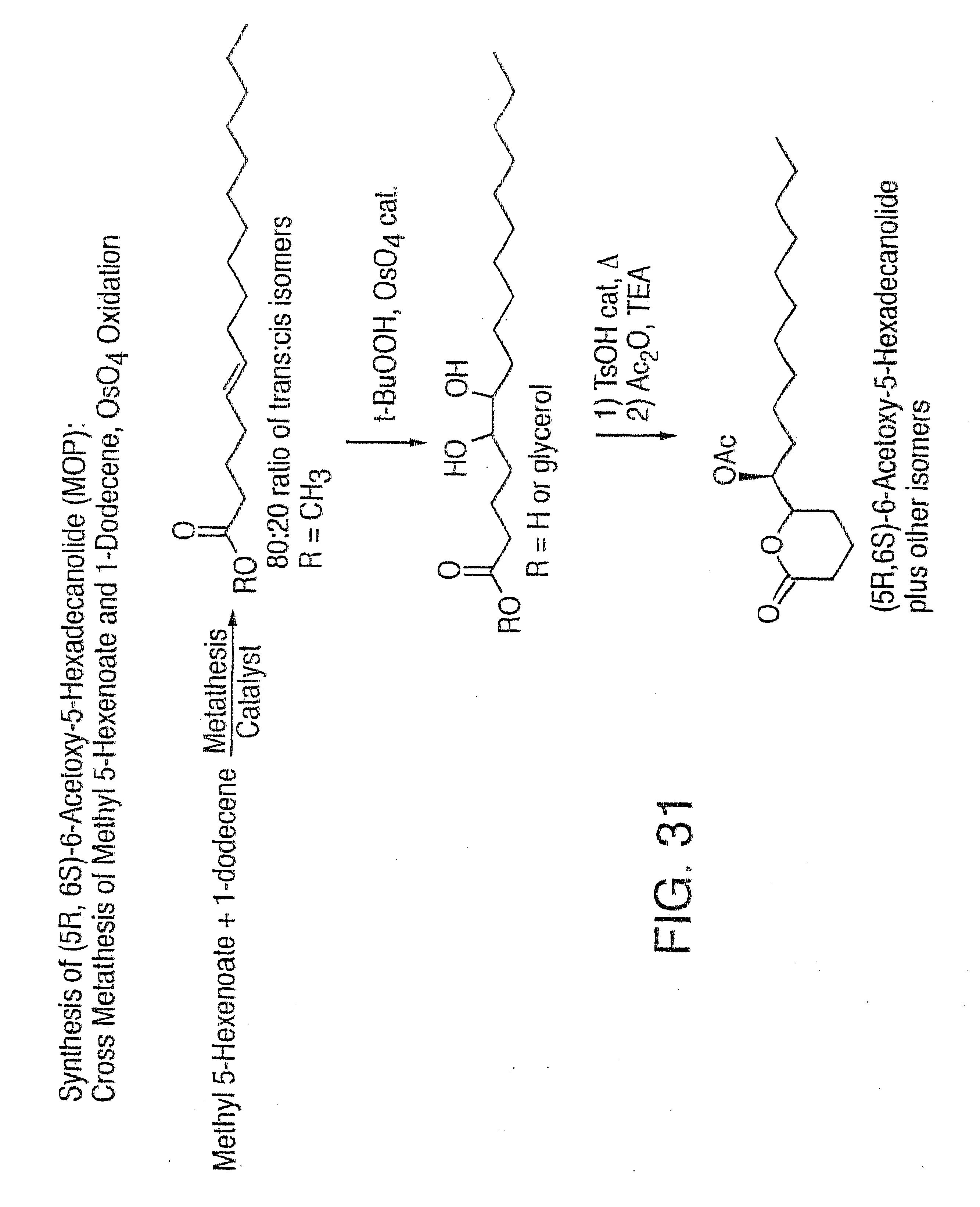 Olefin metathesis reaction conditions