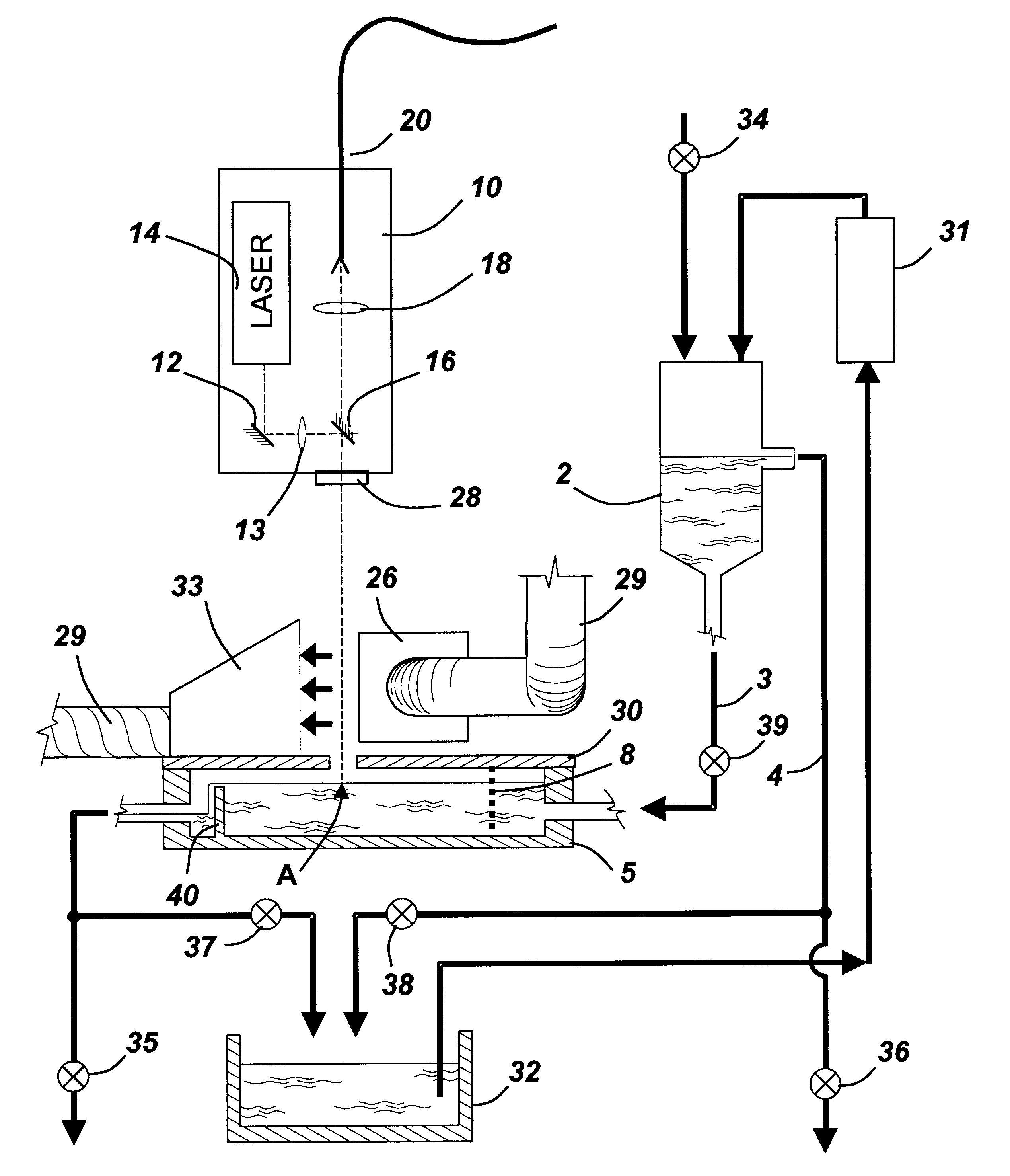patent us6700660 method and apparatus for in process liquid 36 Inch Range patent drawing
