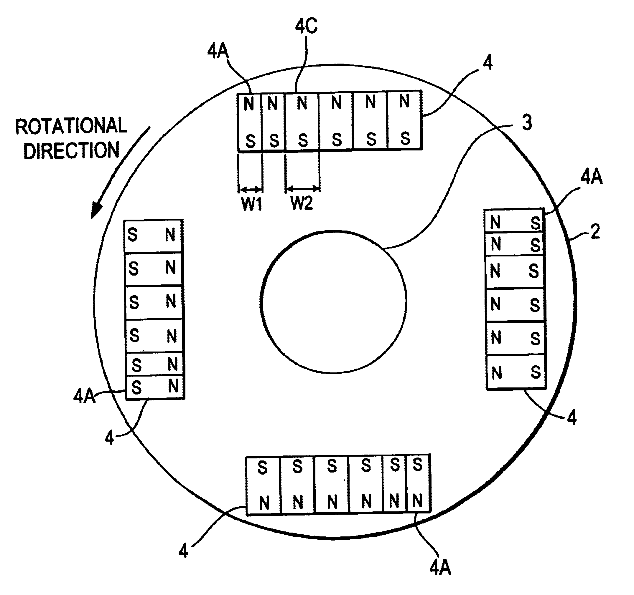Patent Us6703743 Motor Or Generator Google Patents 2 Pole Stator Winding Diagram Wiring Schematic Drawing