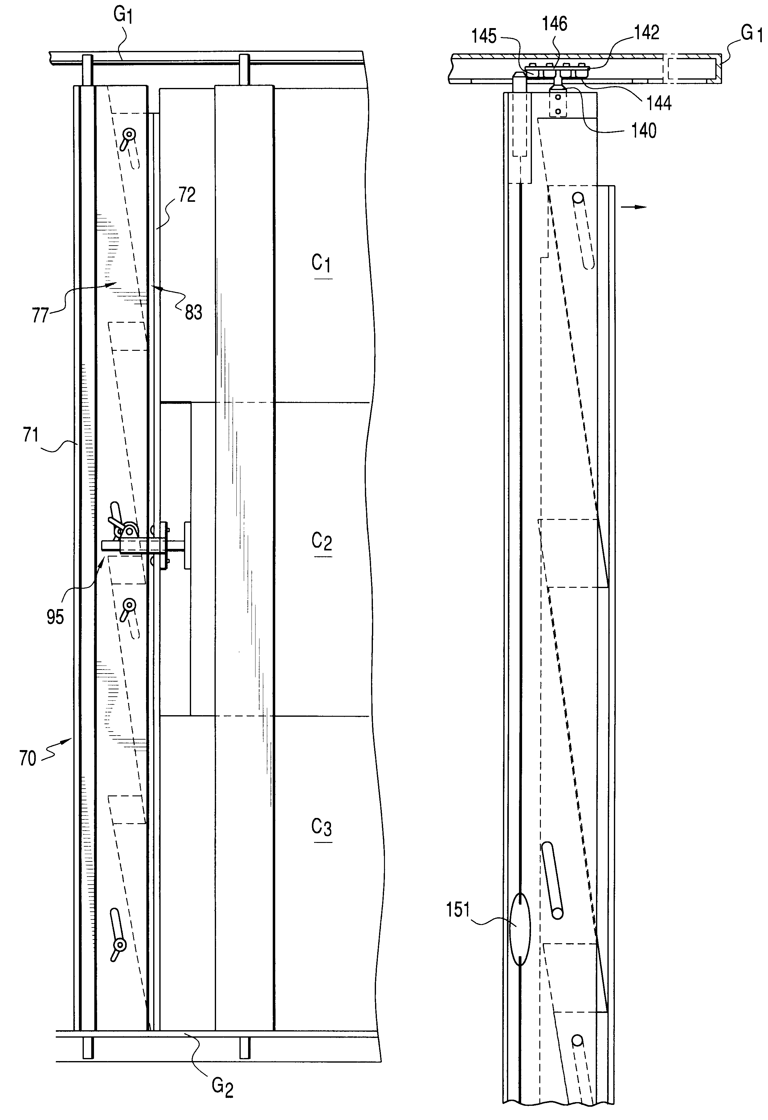 Patent US6705812 - Stanchion and clamp assemblies for storage and