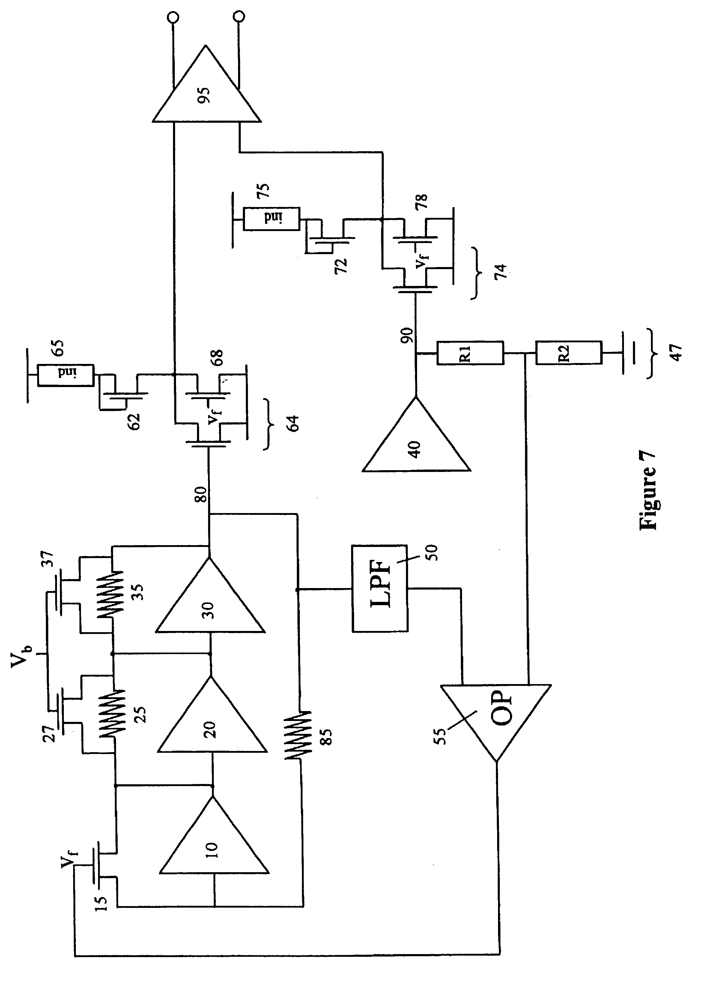 Patent Us6720826 Transimpedance Amplifier Google Patents In A The Opamp Continuously Compares Its Drawing