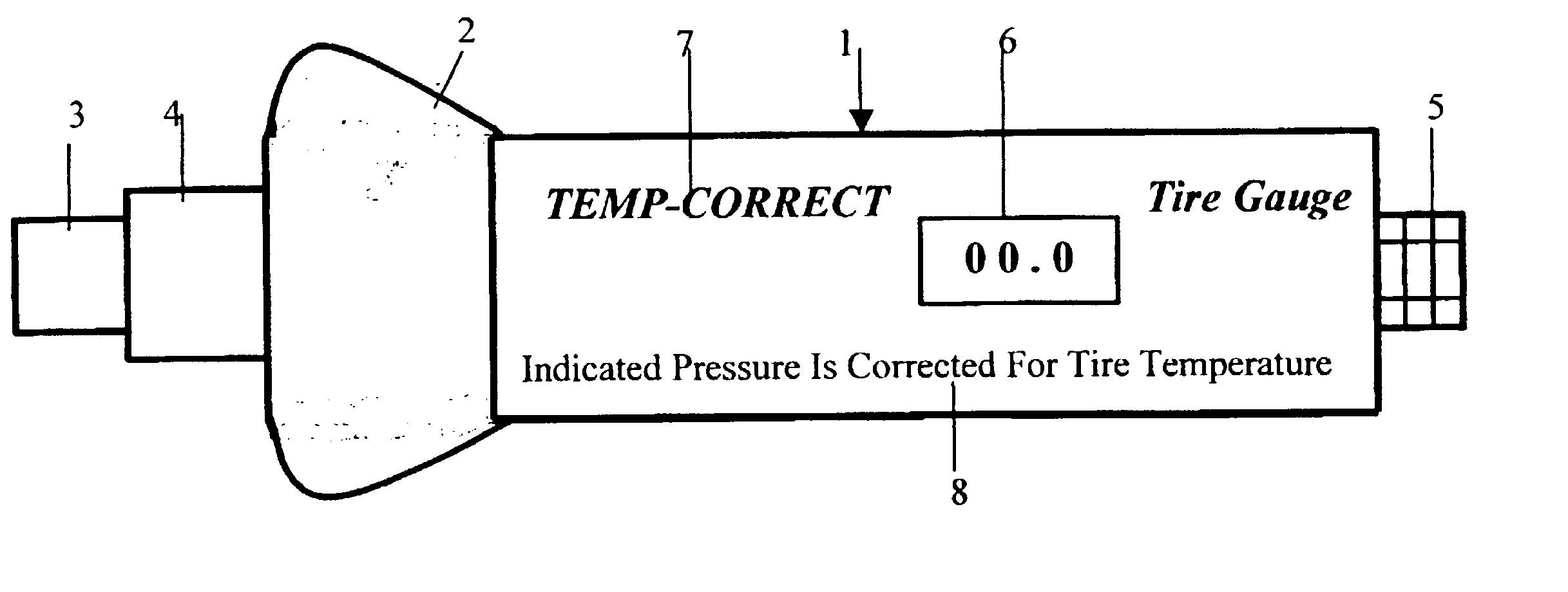 patent us6722193 tire pressure gauge with temperature correction google patents. Black Bedroom Furniture Sets. Home Design Ideas