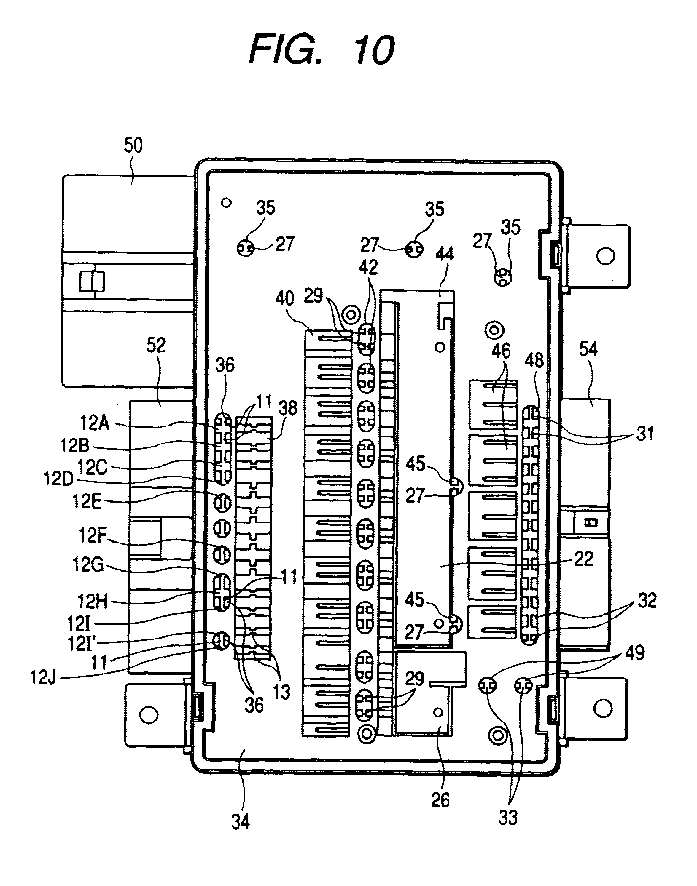 Patent Us6724627 Power Distributor For A Vehicle And Production Cat 12d Wiring Diagram Drawing