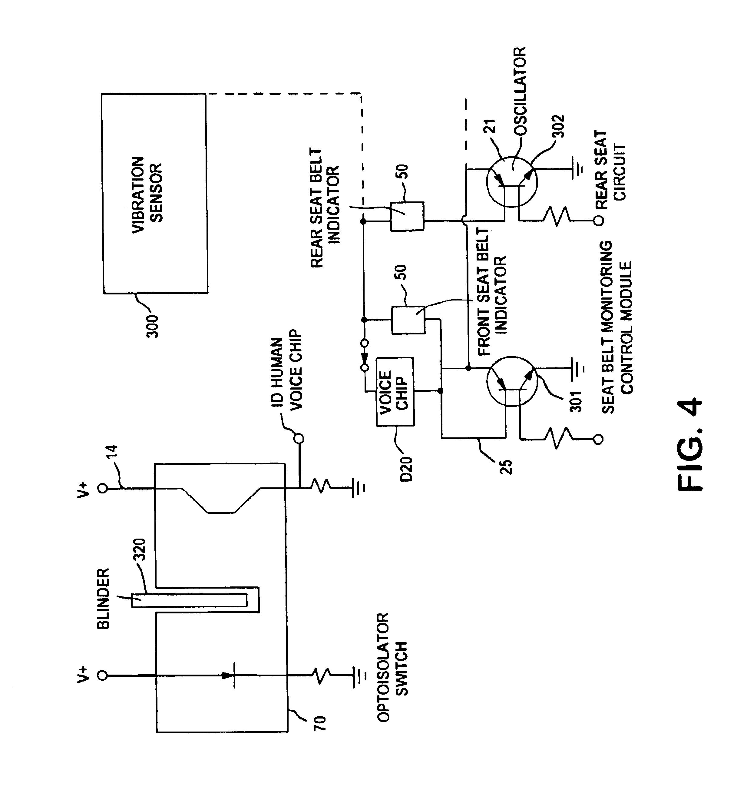 patent us6728616 - smart seatbelt control system