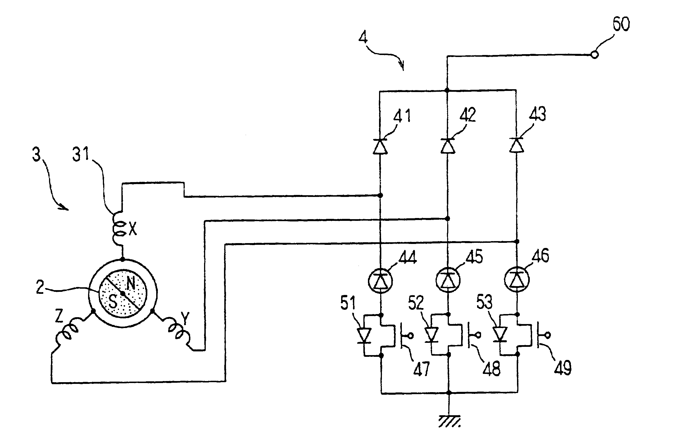 patent us6731081 - vehicle alternator having rectifier circuit using diode and fet