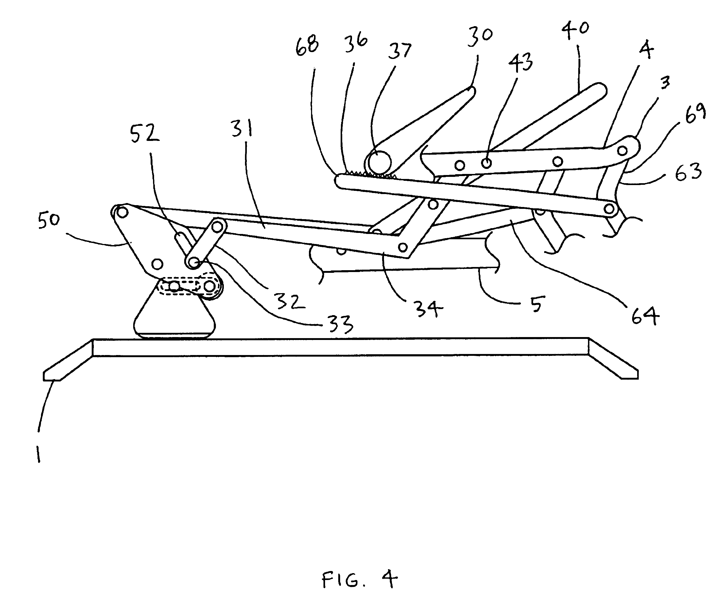 Patent Us6733071 Self Locking Rocker Recliner Chair