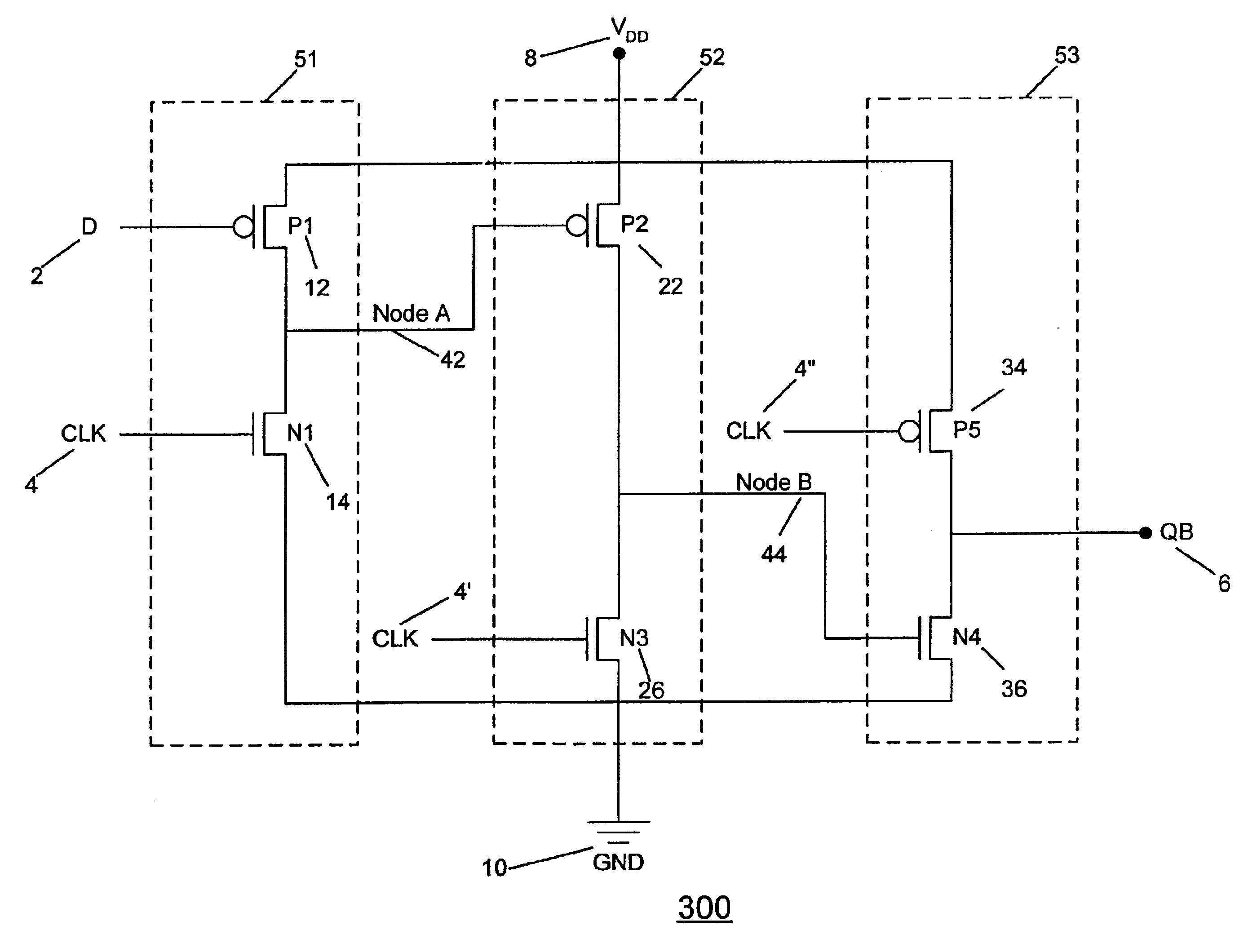 Patente Us6737900 Silicon On Insulator Dynamic D Type Flip Flop Circuit Diagram Using Nand Gate Patent Drawing
