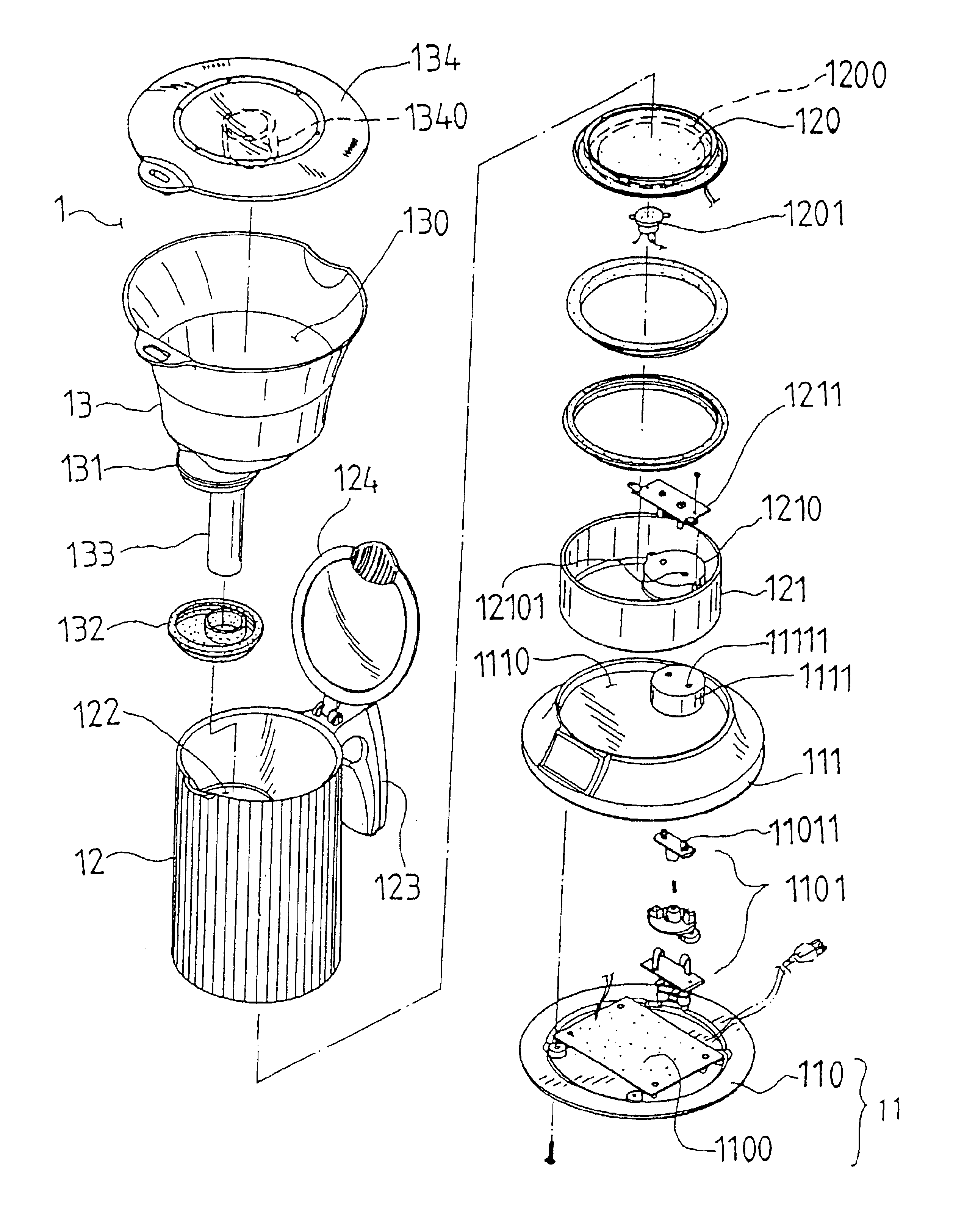 patent us6742442 - coffee maker structure