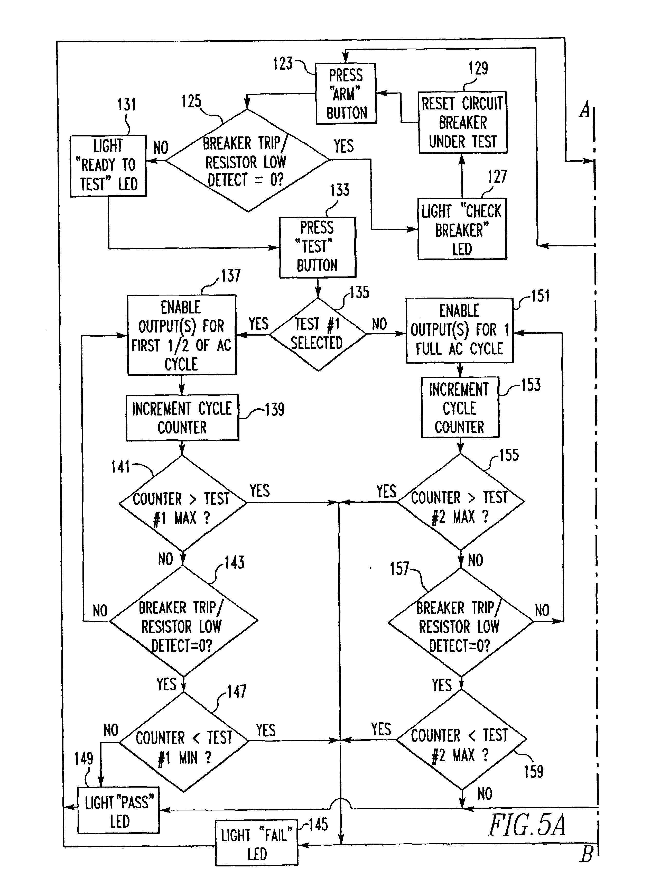 patent us6744260 tester for a plurality of circuit breakers having AFCI Wiring-Diagram patent drawing