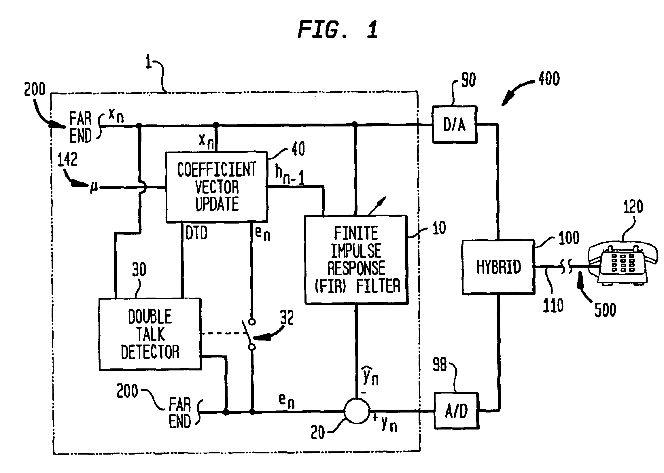 patent us6744886 - adaptive filter utilizing proportional affine projection algorithm