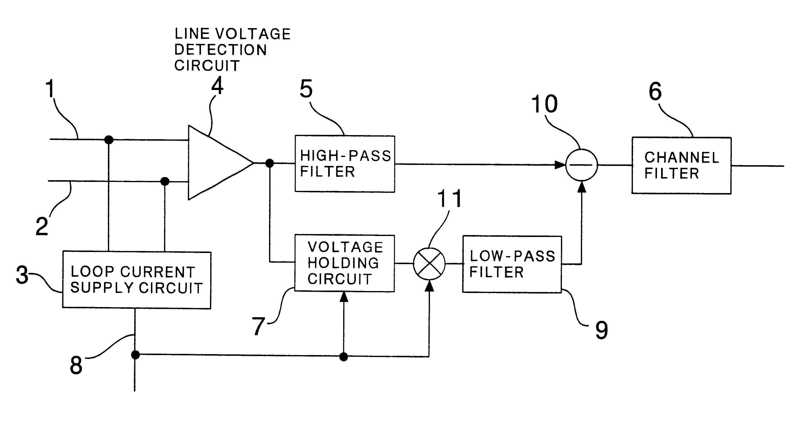 Patent Us6744889 Subscriber Circuit For Public Telephone Set Diagram Of High Pass Filter Drawing