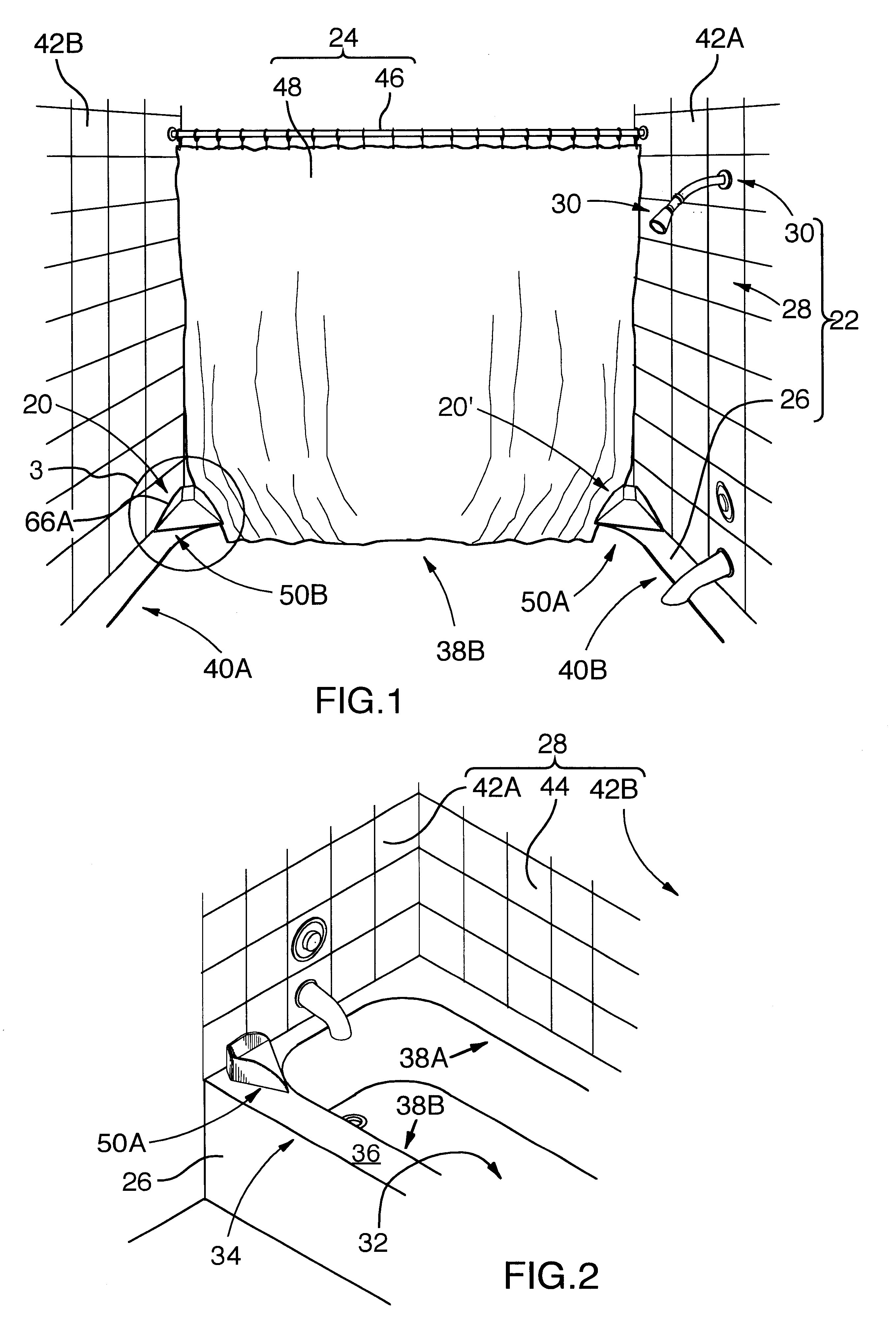 patent us6745415  shower structures enclosed by shower