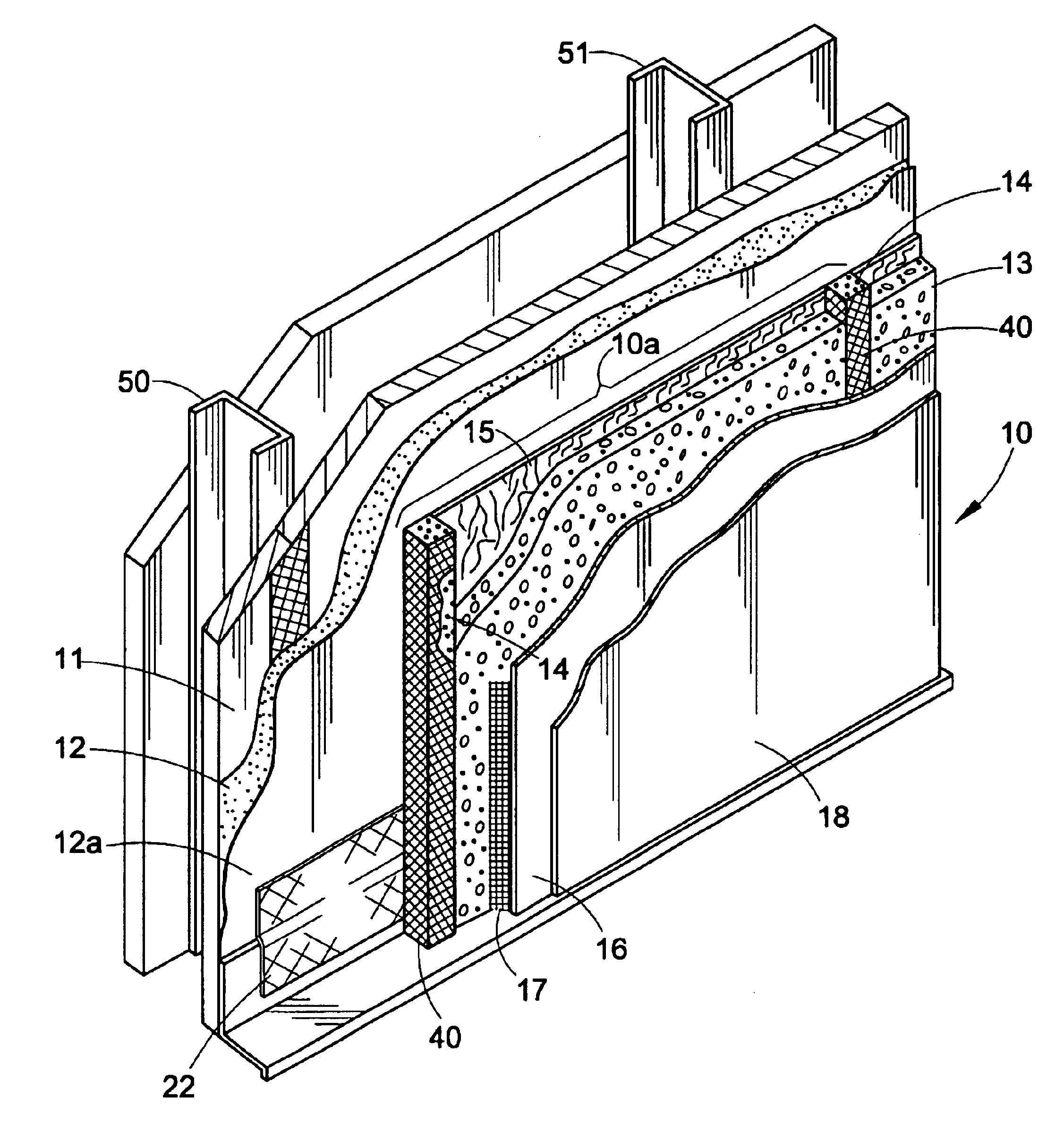 Patent us6745531 pressure equalized compartment for for Exterior insulation and finish system