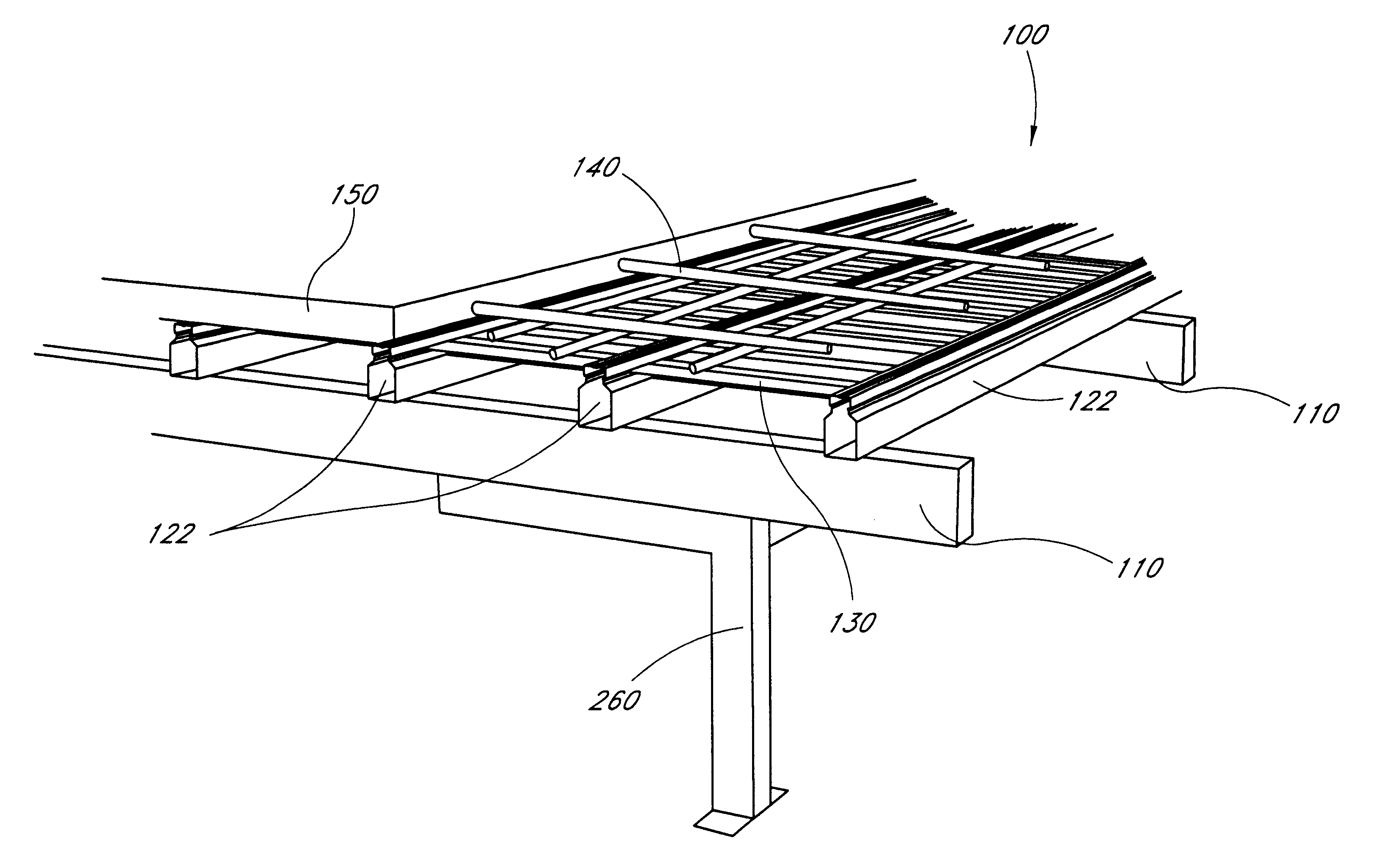 Patent us6755001 suspended concrete flooring system and for Suspended concrete floor