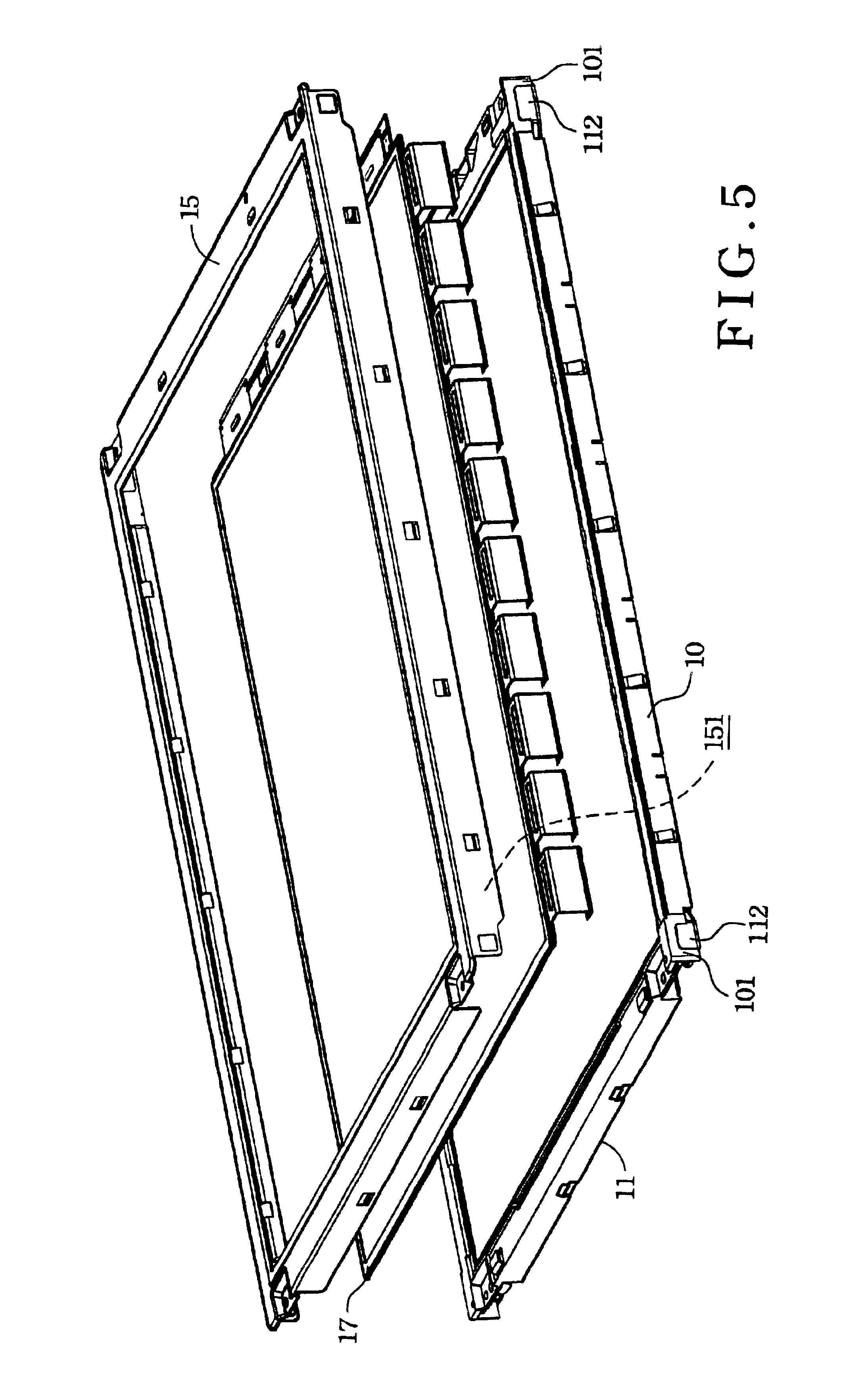 patent us6760083 - metal backing plate structure for a liquid crystal display module