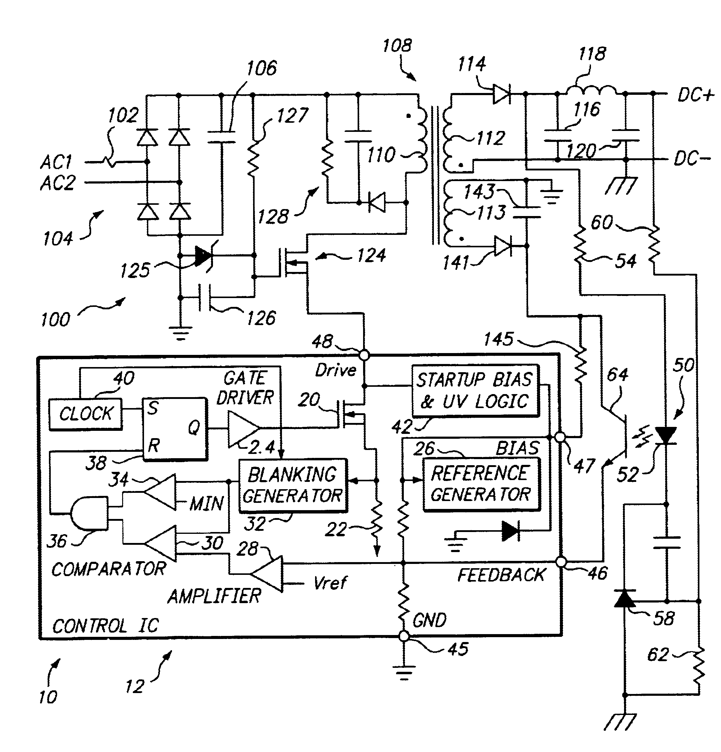 patent us6775164 - three-terminal  low voltage pulse width modulation controller ic