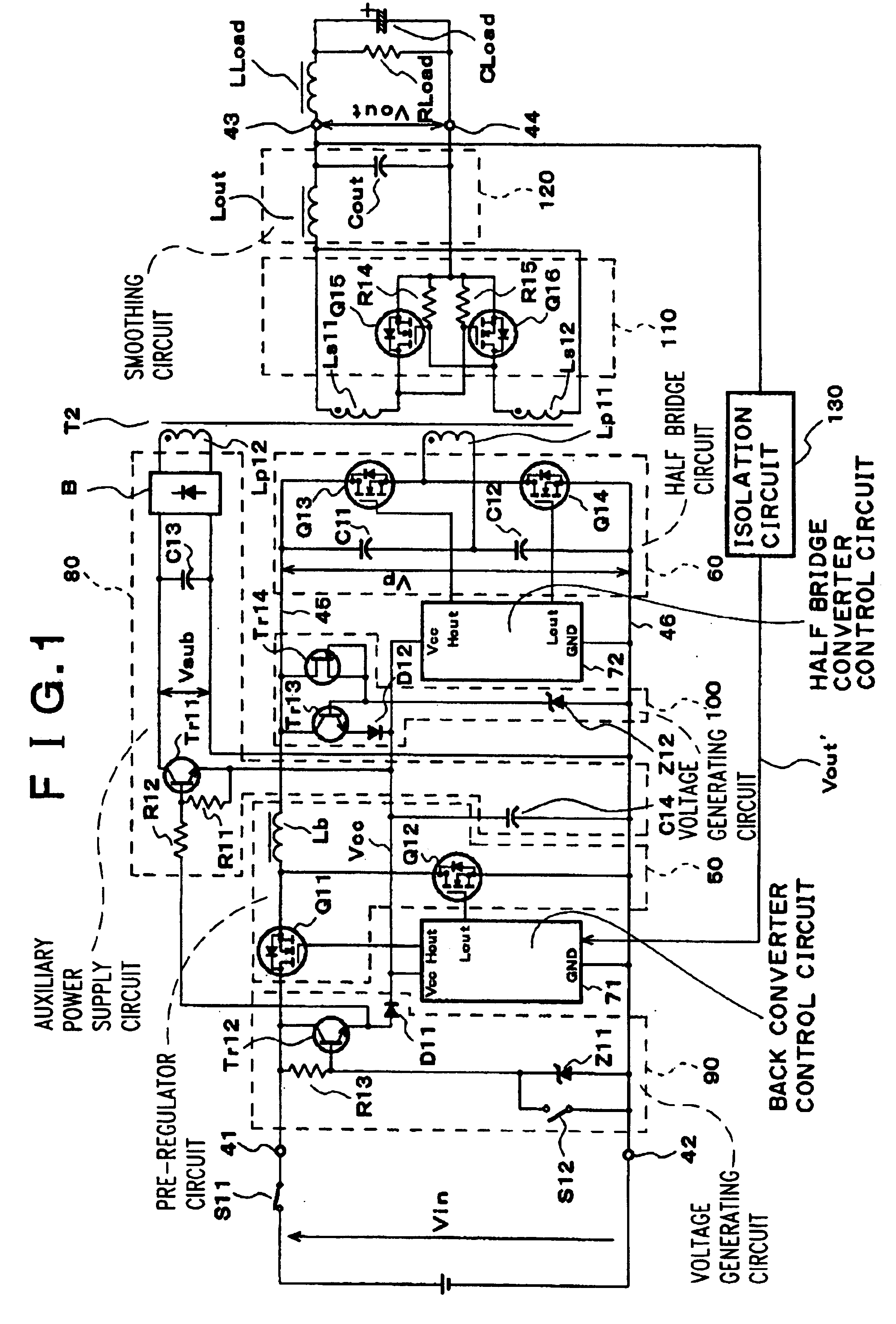 Patent Us6781852 Switching Power Supply Using A Transformer Example Smoothing Capacitor Circuit Drawing