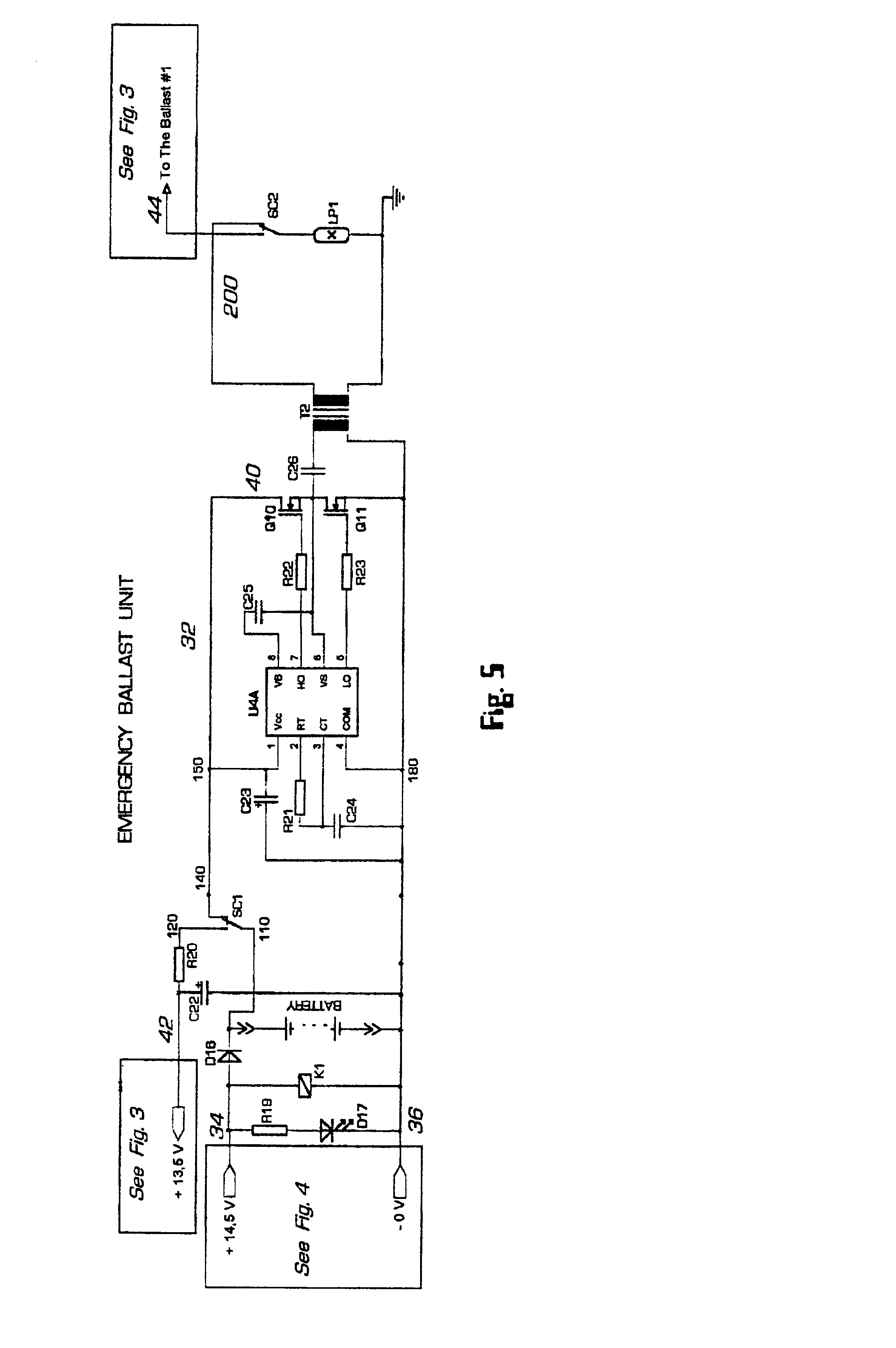 Patent Us6784624 Electronic Ballast System Having Emergency 40w Fluorescent Lamp Inverter Diagram Drawing