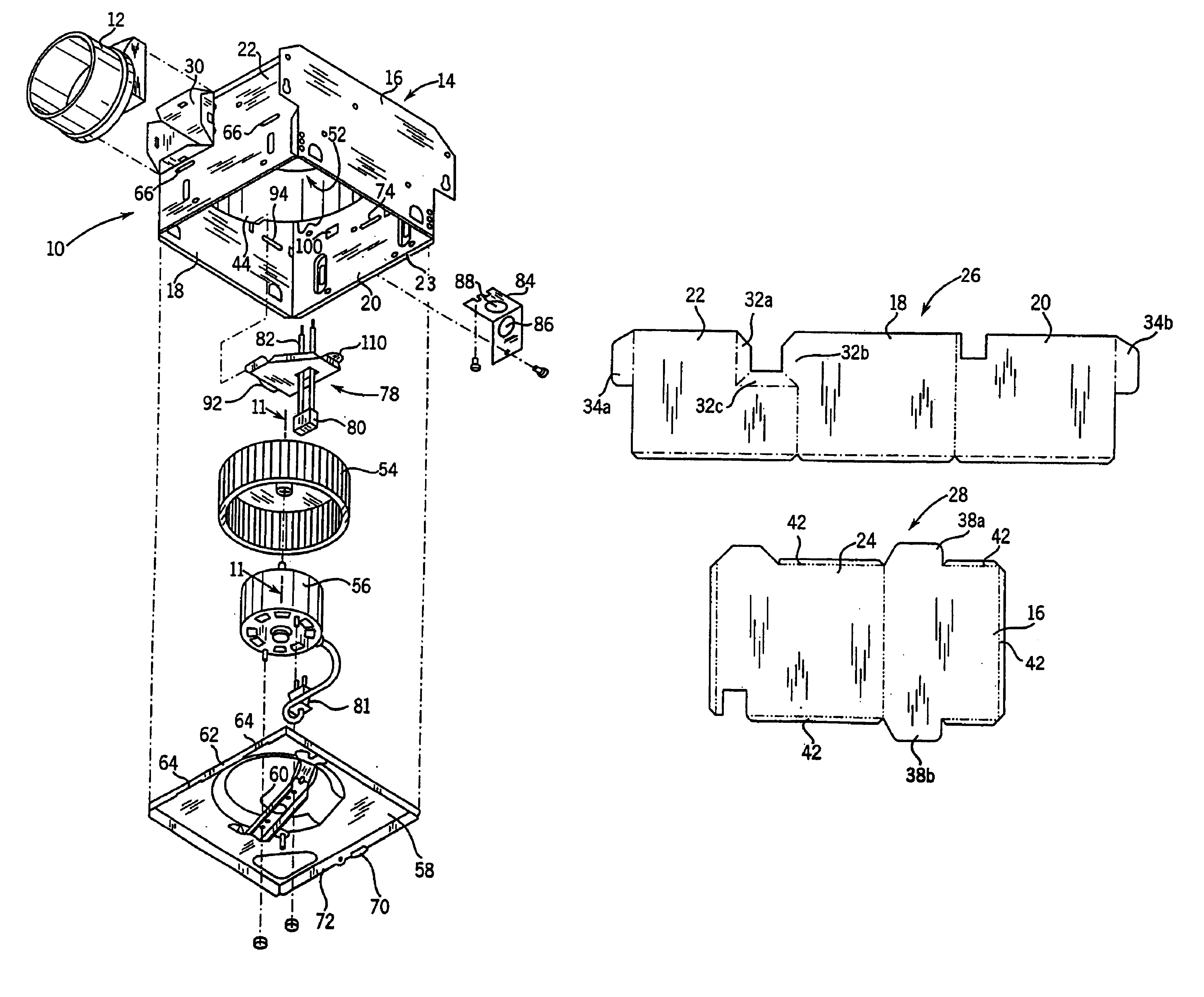 Patent us6802770 ventilating exhaust fan google patents for Emerson pryne exhaust fan replacement motor
