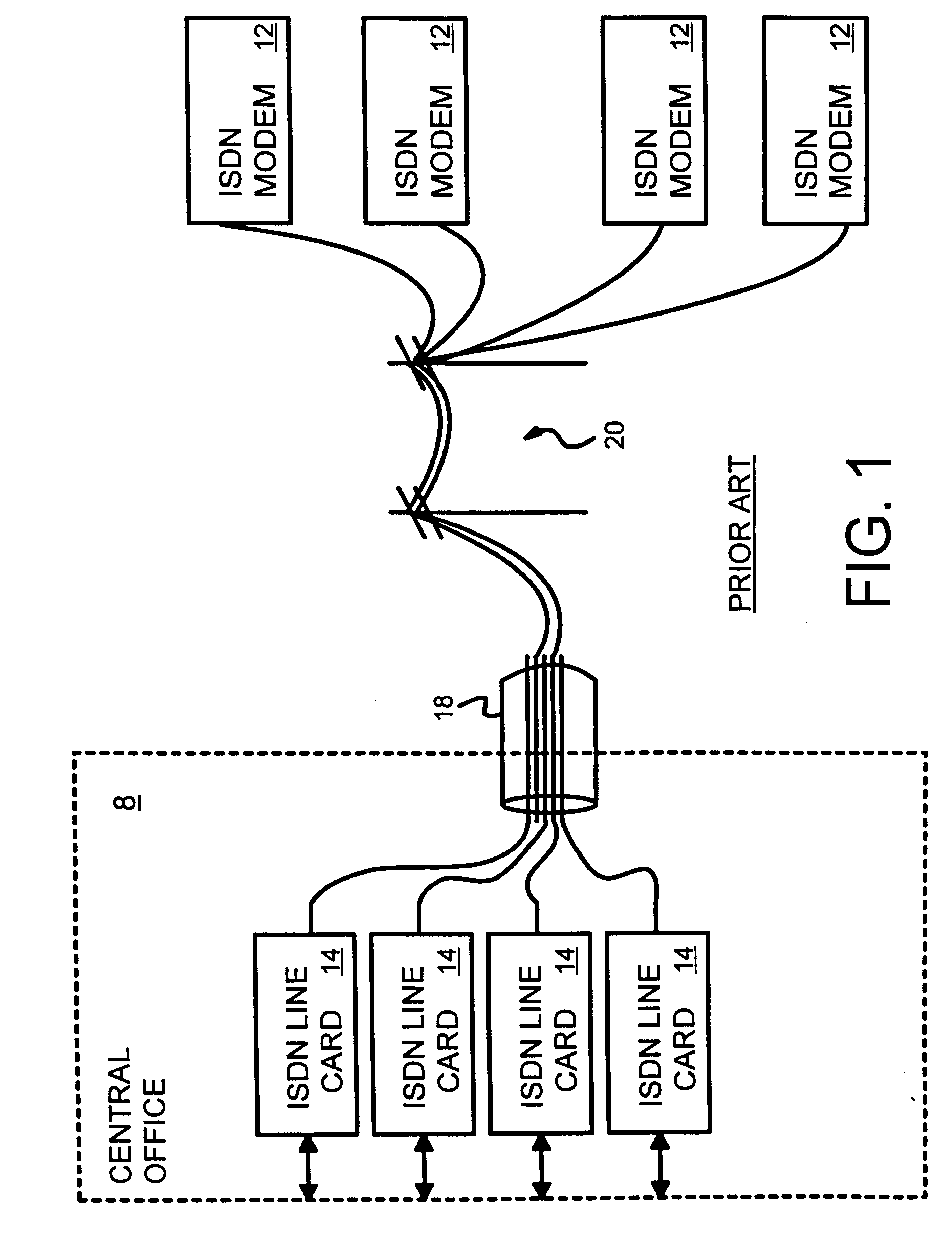 patent us6804267 - transceiver training for dsl modems under tcm-isdn interference