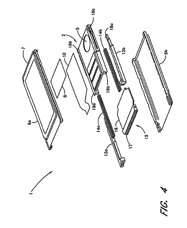 patent us6804382 - relief object sensor adaptor