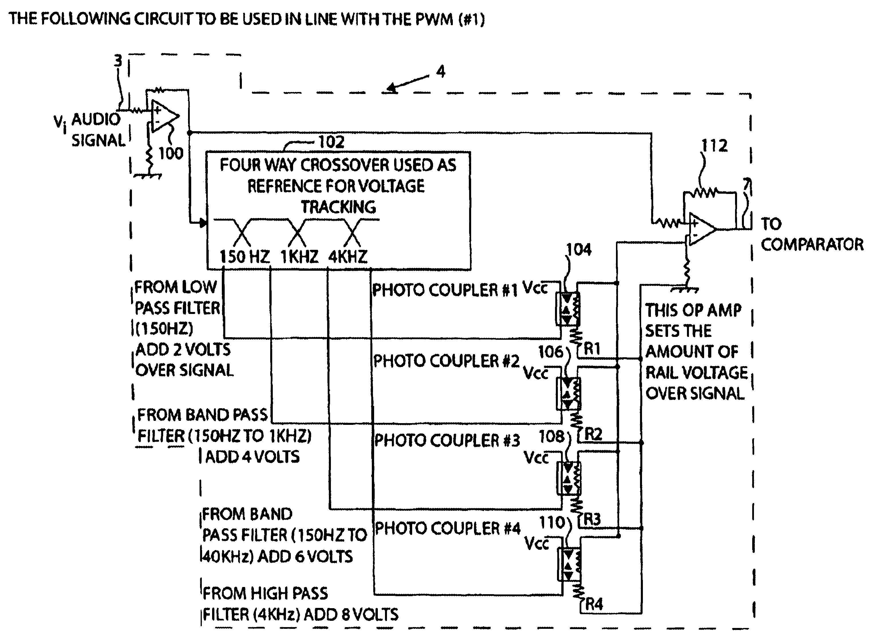 Patent Us6816007 Amplifier With Dynamic Rail Control Drive Circuit Pwm Drawing