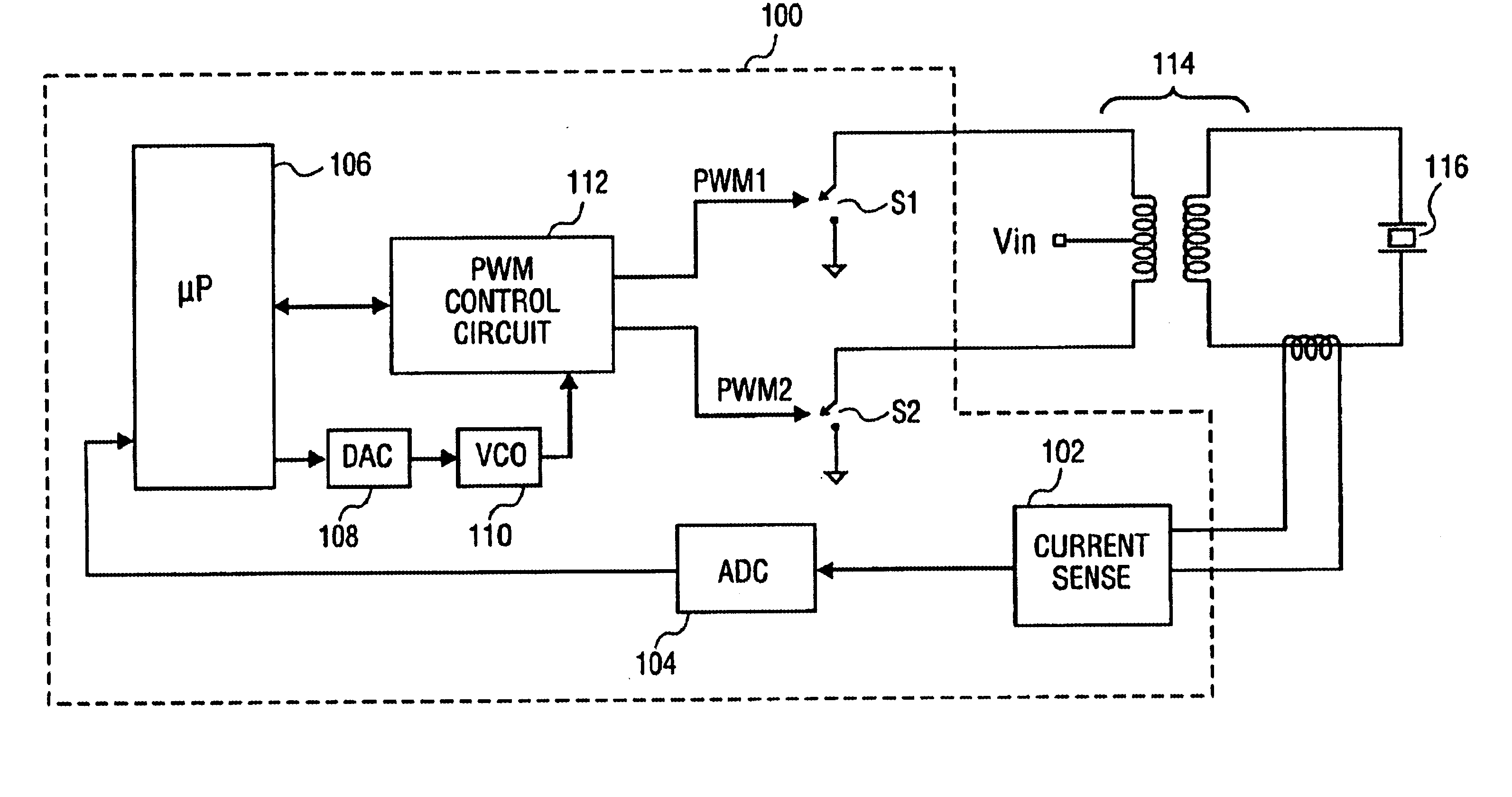 Ultrasonic transducer Driver circuit