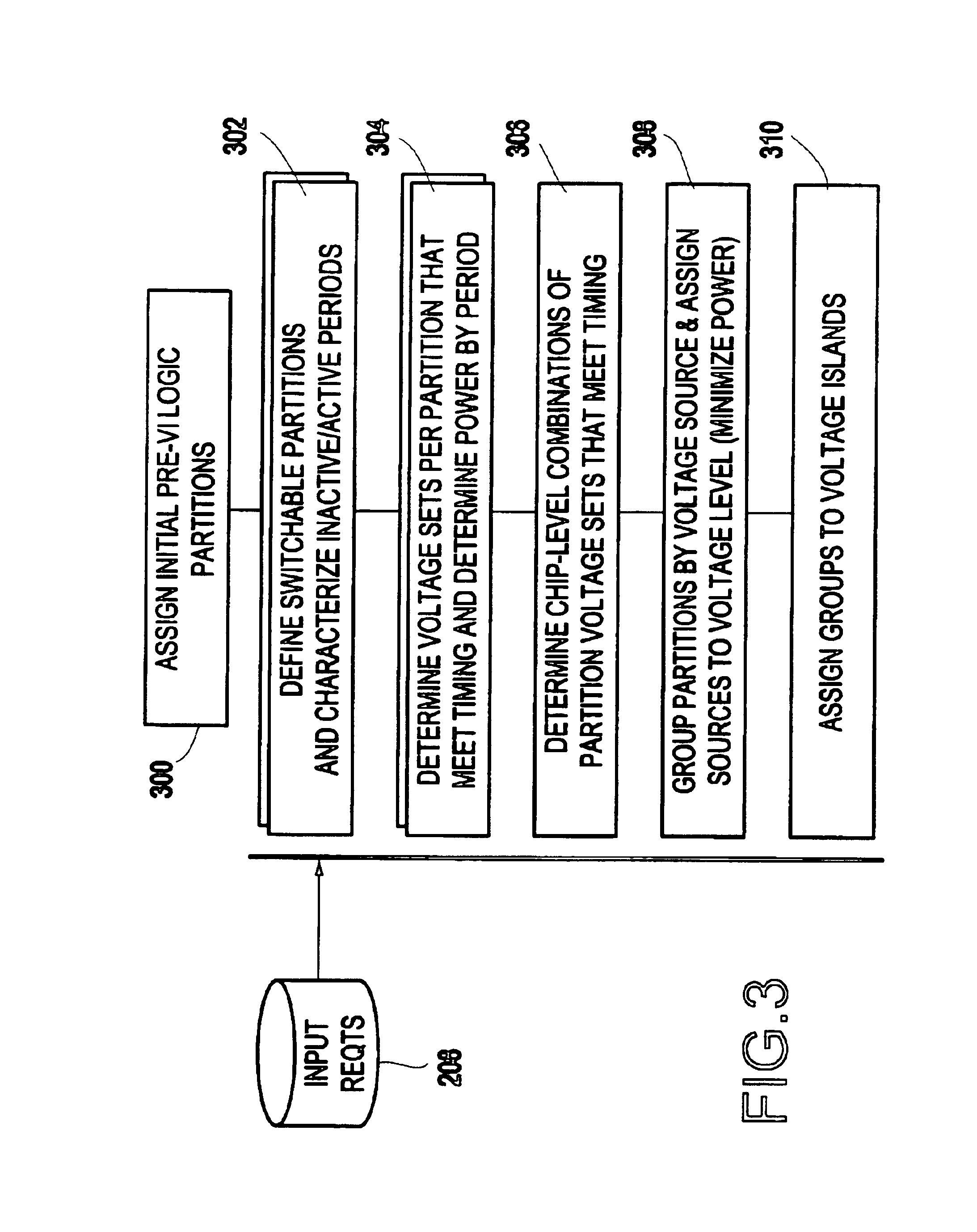 Floorplanning Patent Us6820240 Voltage Island Chip Implementation
