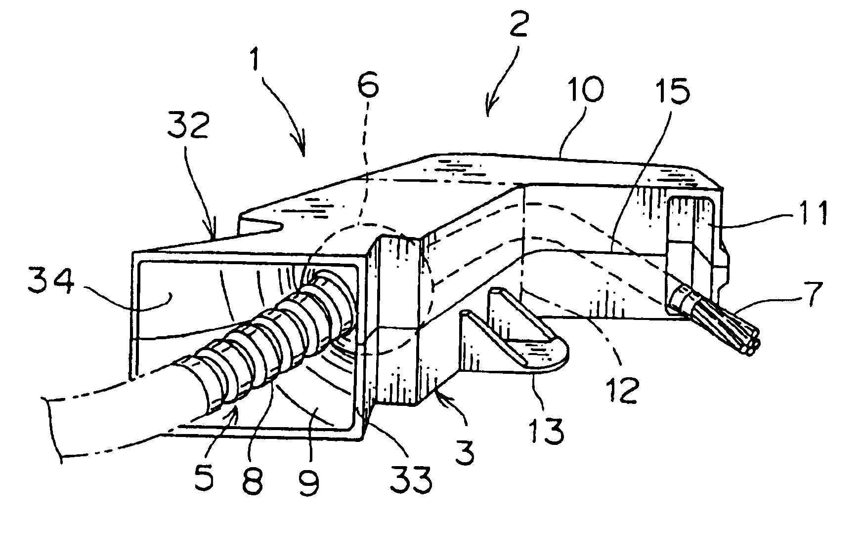 patent us6830225 - device for fixing wire harness