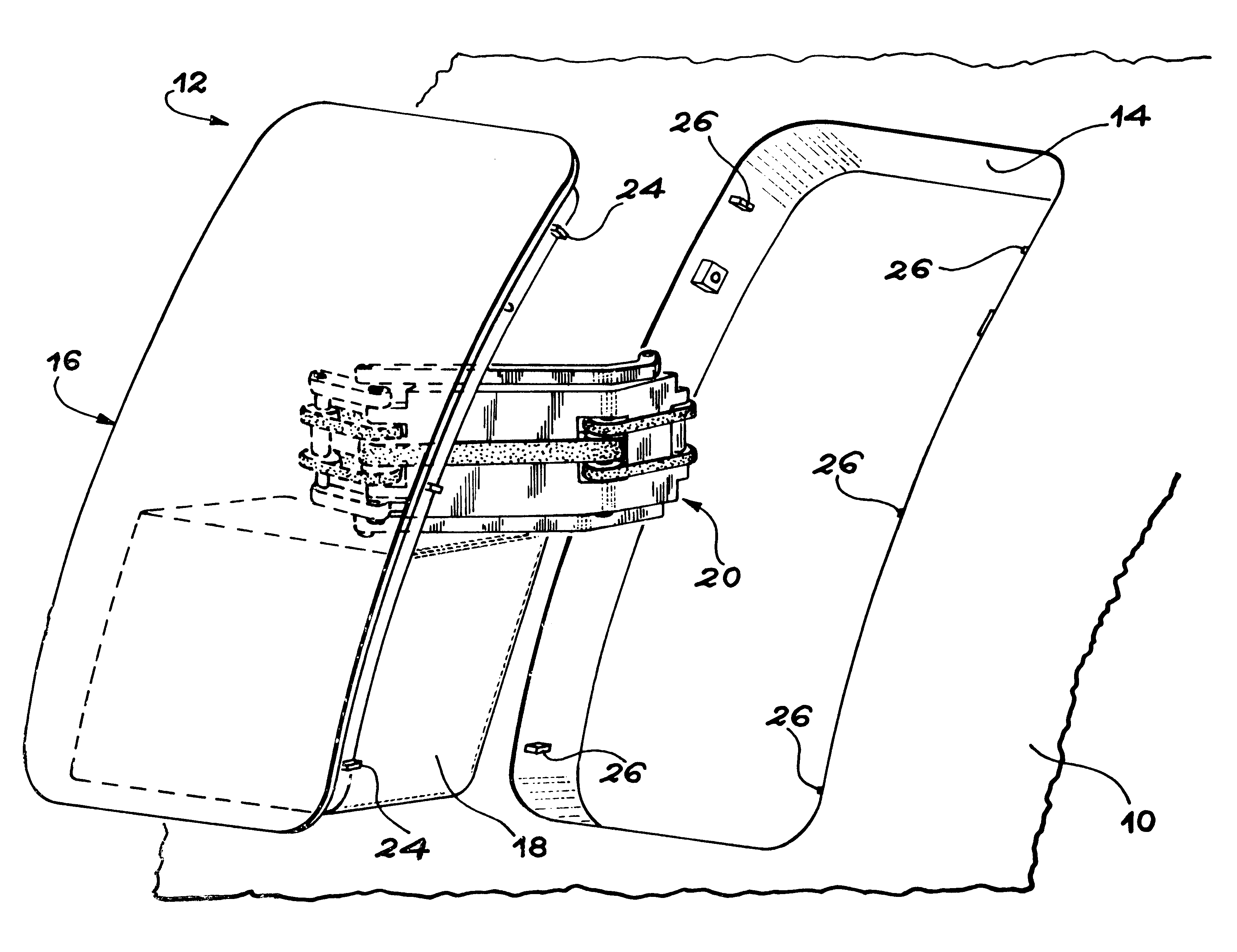 Aircraft Door Hinge Mechanism Patent Us5289615 Aircraft