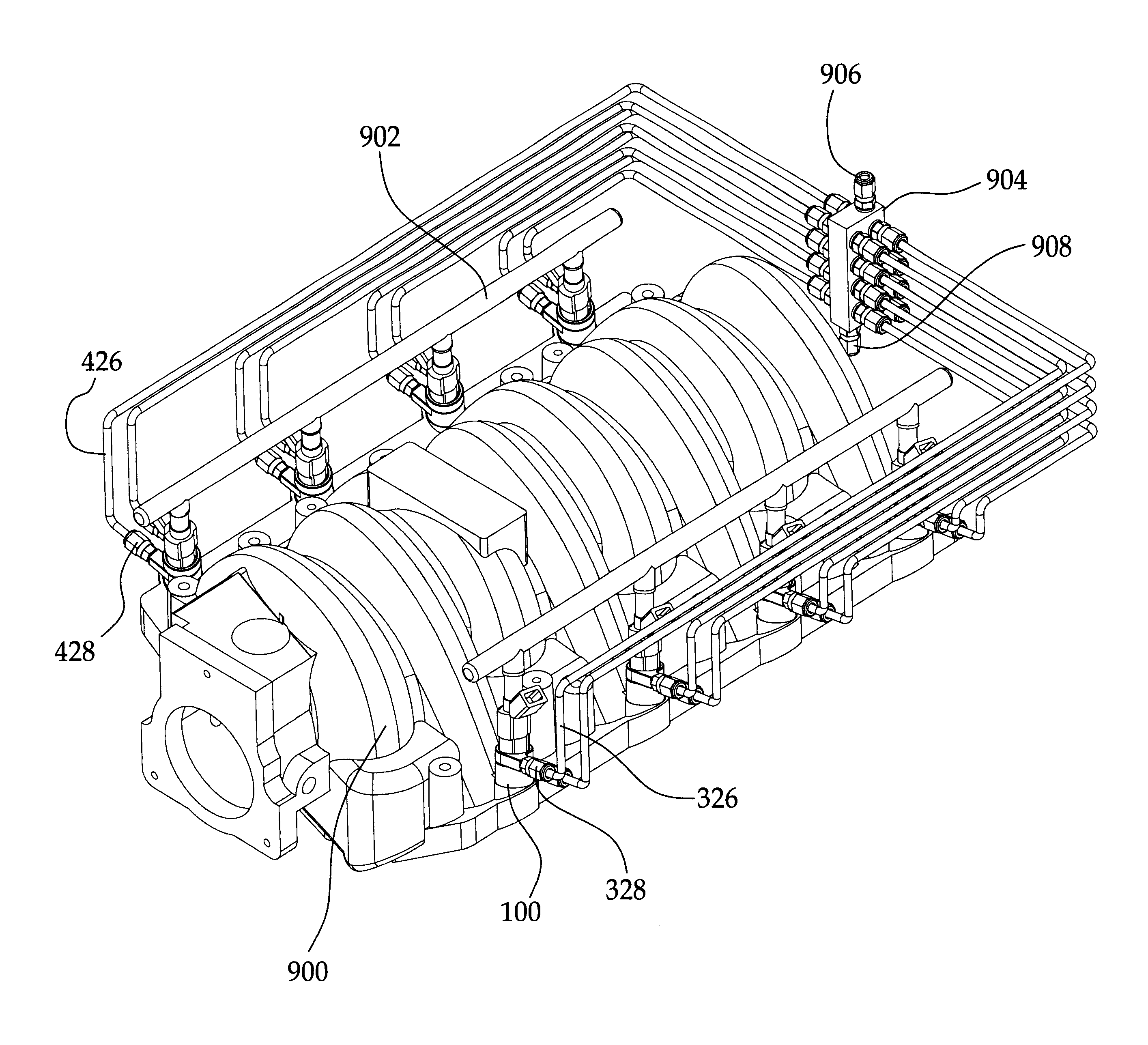 patent us6837228 fuel injector nozzle adapter patents Fuel Injector Cleaning patent drawing