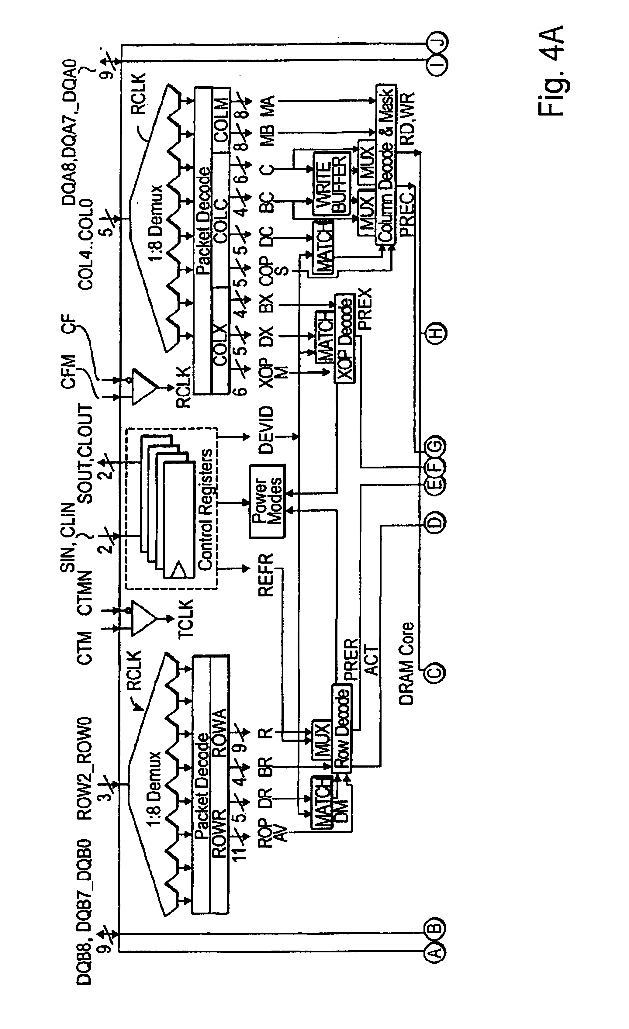 Patent Us6842864 Method And Apparatus For Configuring Access Times 1 To 8 Demultiplexer Logic Diagram Drawing